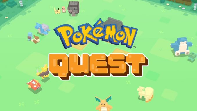 free to download on iOS and Android at 'Pokemon Quest'