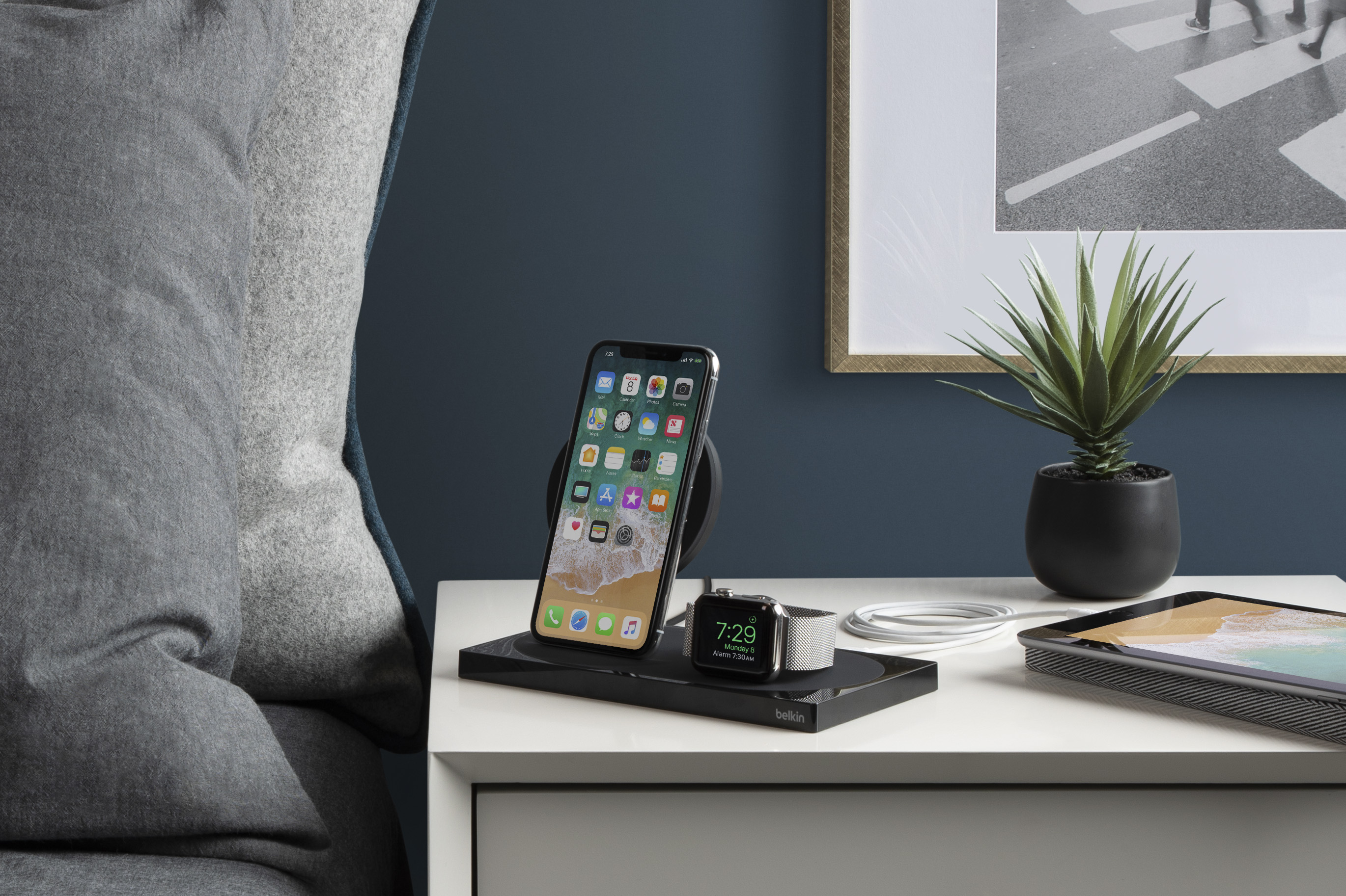 Belkin S Boostup Wireless Dock Can Charge Three Apple Devices At