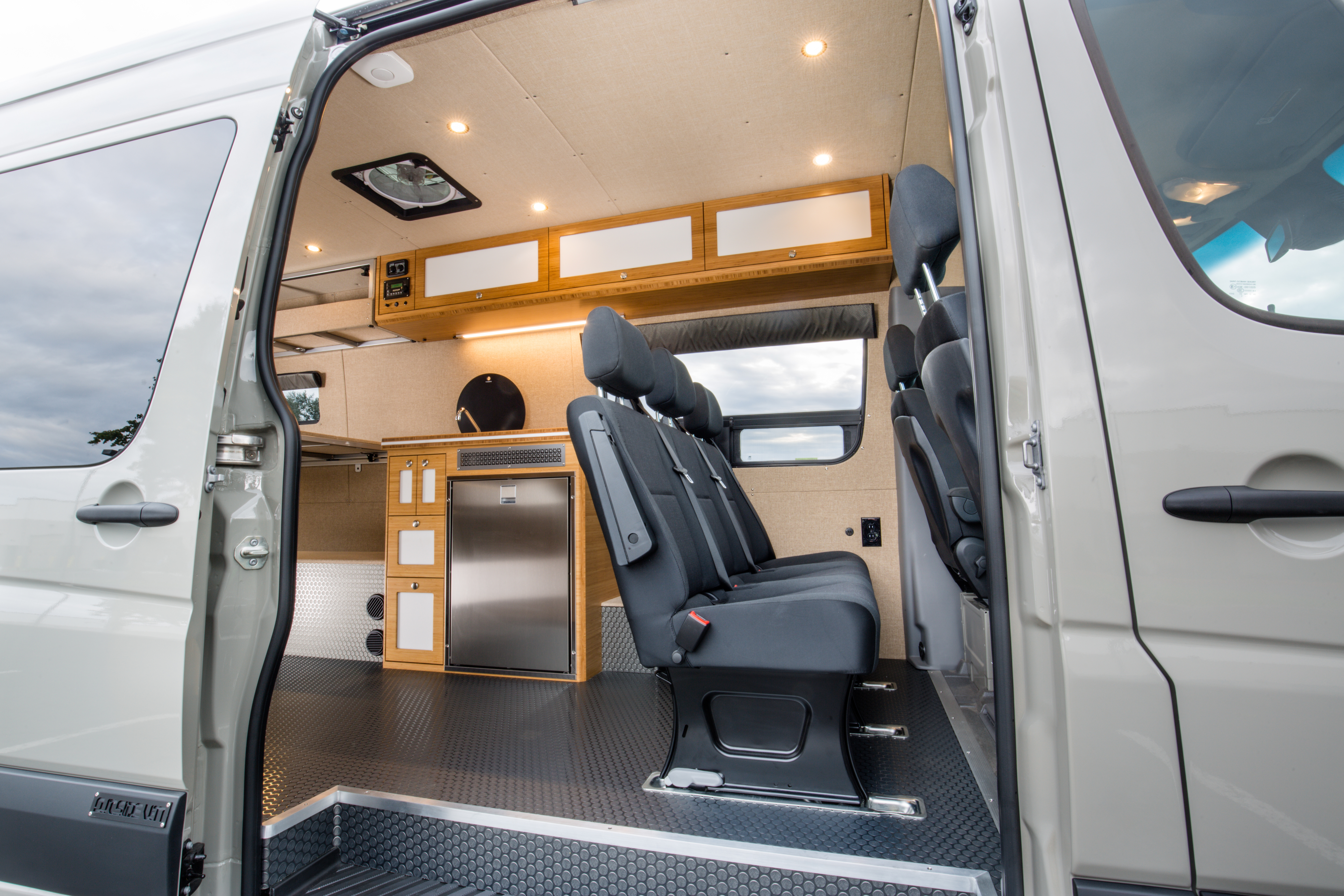 Luxury camper van offers a cool oasis for two
