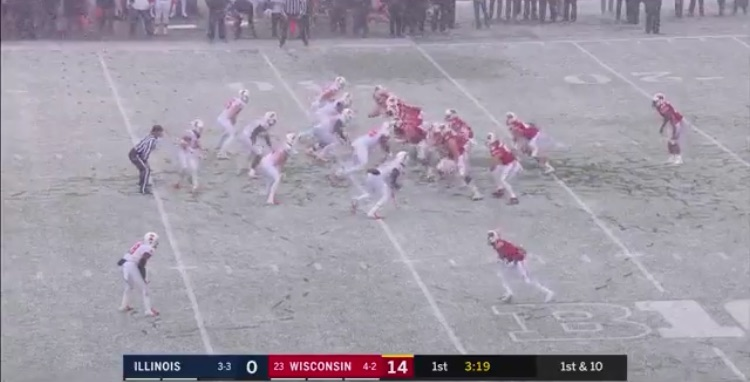 2018's first SNOW FOOTBALL GAME featured one team wearing all white