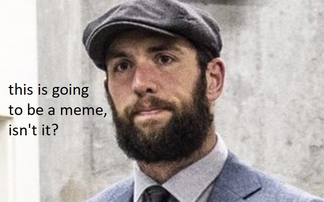 Andrew Luck arrived at the stadium dressed like a Scottish ethics professor