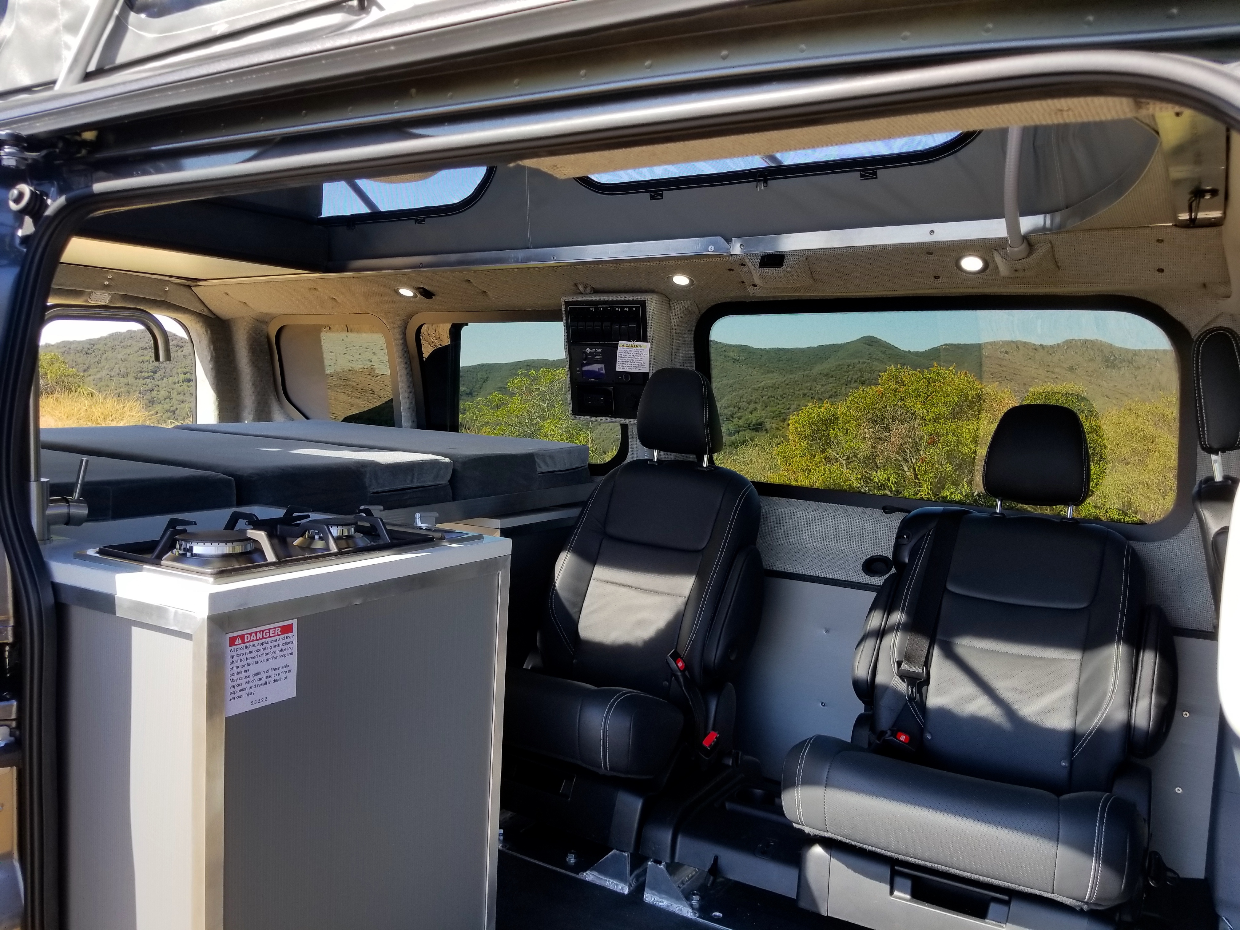 Camper van with removable components can sleep a family