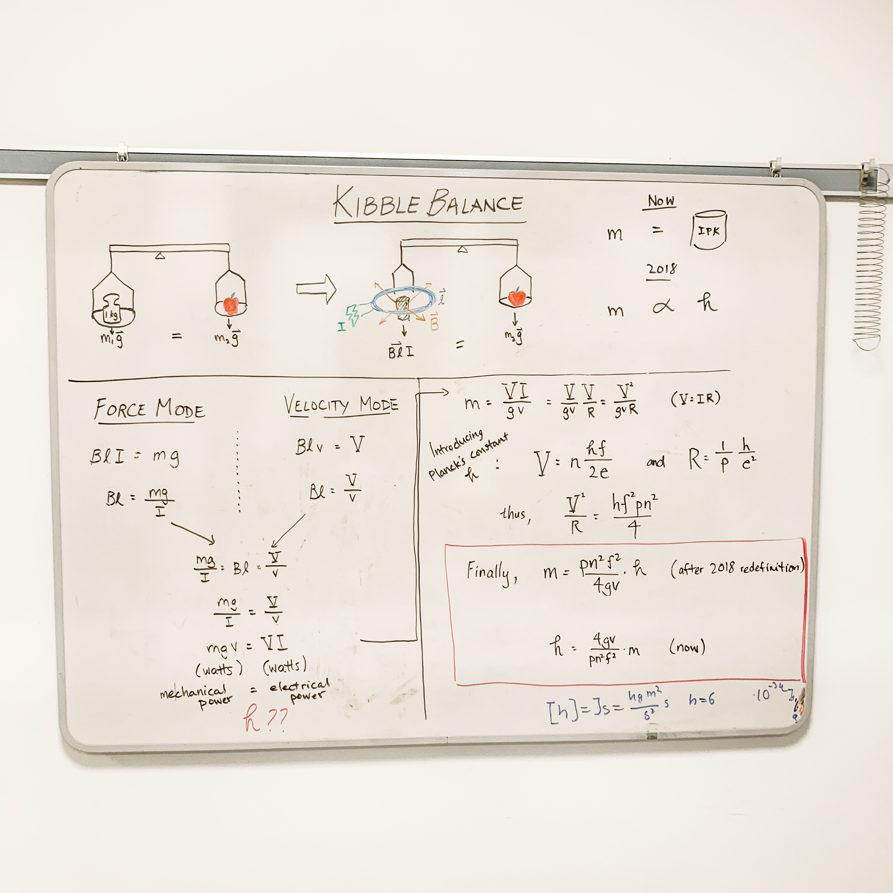 Kilogram Gets A New Definition Slashdot 1986 Ford Escort Body Electrical System Diagram The Kibble Balance Uses Measurements Of Voltage Current Velocity And Gravitational Acceleration In Order To Calculate Mass That Was Placed On