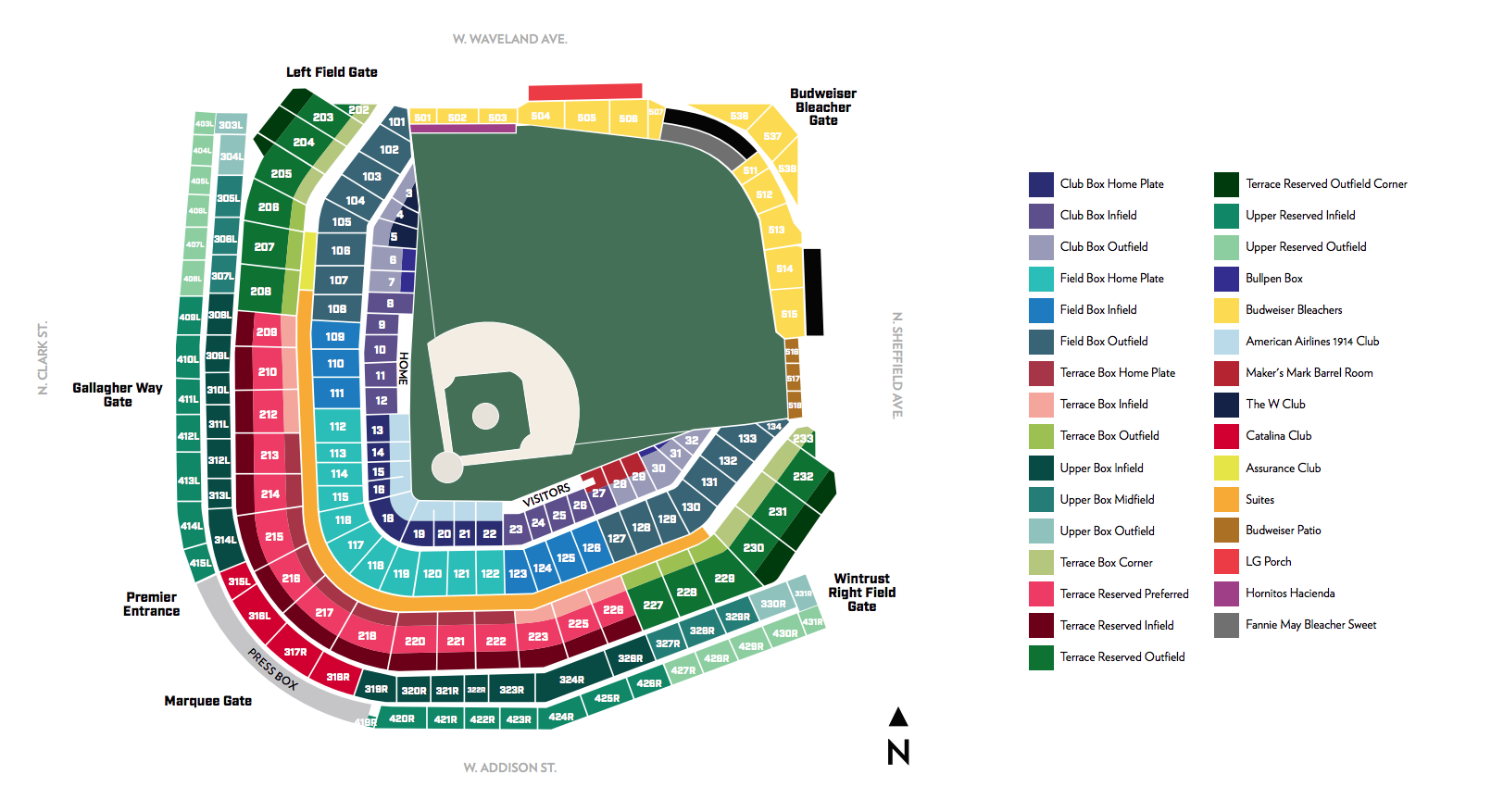 Here Is The New Seat Numbering Map Click For A Larger Version
