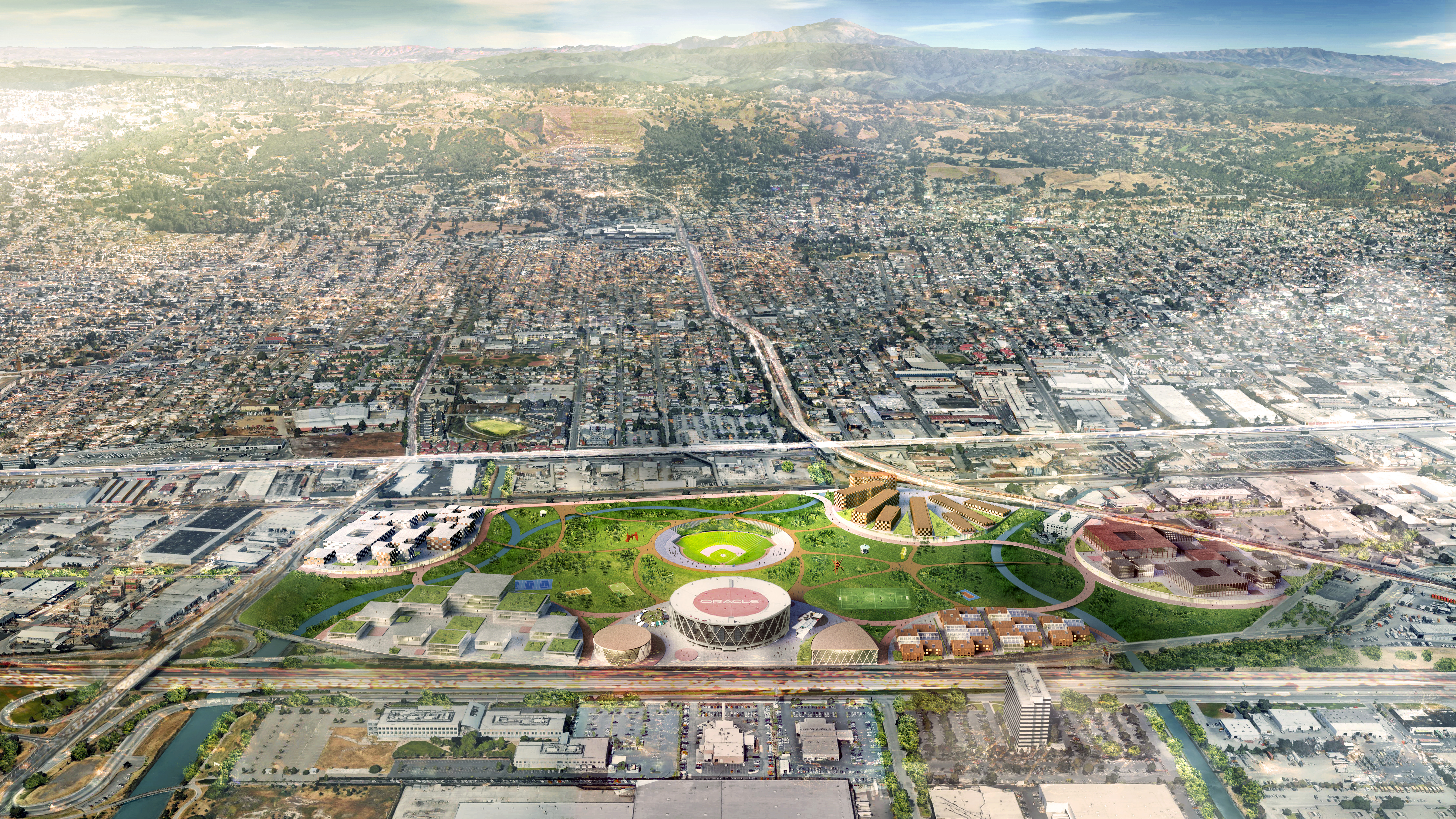 Oakland A's unveil plans for new ballpark at Howard Terminal