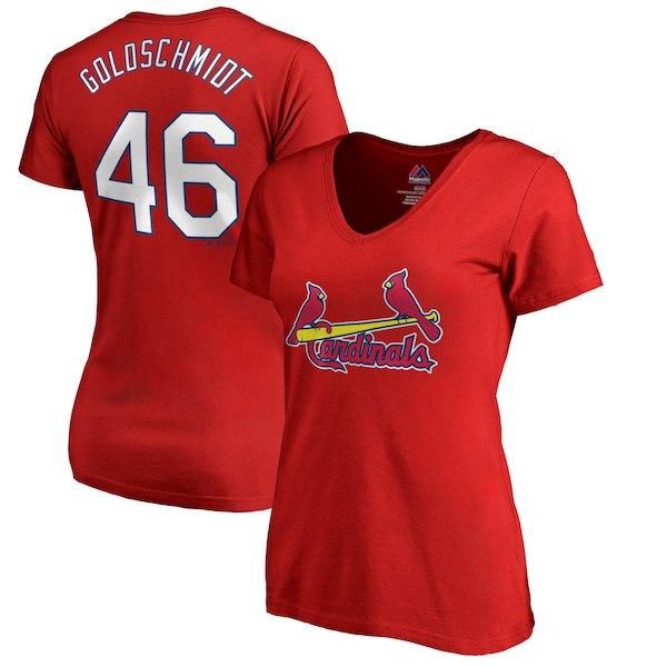c08abf6925ed Paul Goldschmidt St. Louis Cardinals Women s V-Neck T-Shirt – Red for   29.99 Walmart