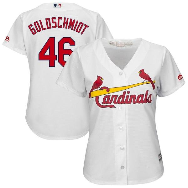 low priced 69411 d801a Paul Goldschmidt St. Louis Cardinals Women s Official Cool Base Jersey –  White for  99.99 Fanatics
