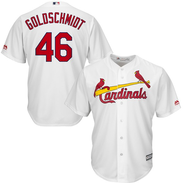 d9ae2e33a2f6 Paul Goldschmidt St. Louis Cardinals Official Cool Base Jersey – White for   119.99 Walmart