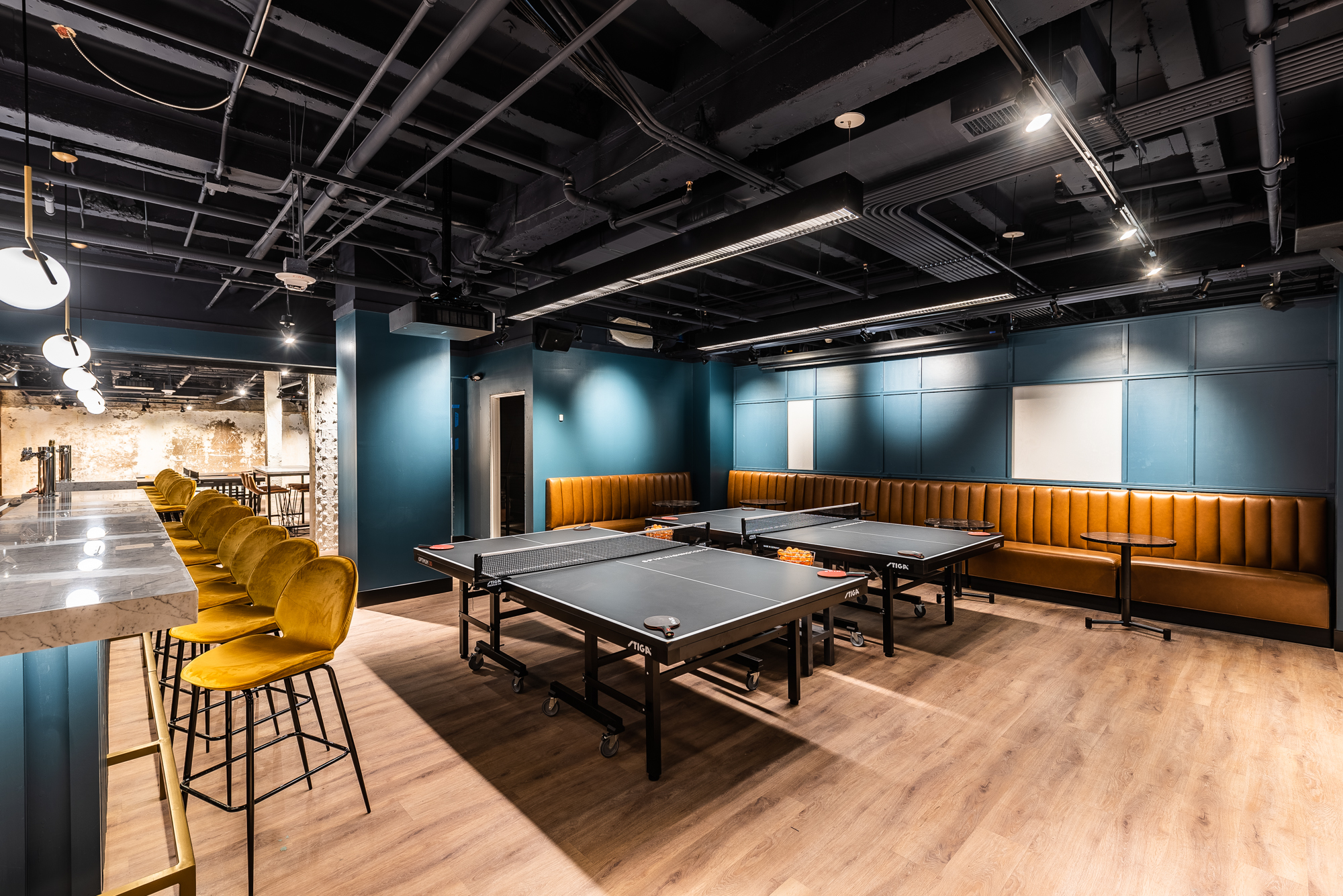 Inside Spin, Downtown's New Bar With Wall-to-Wall Ping-Pong Tables