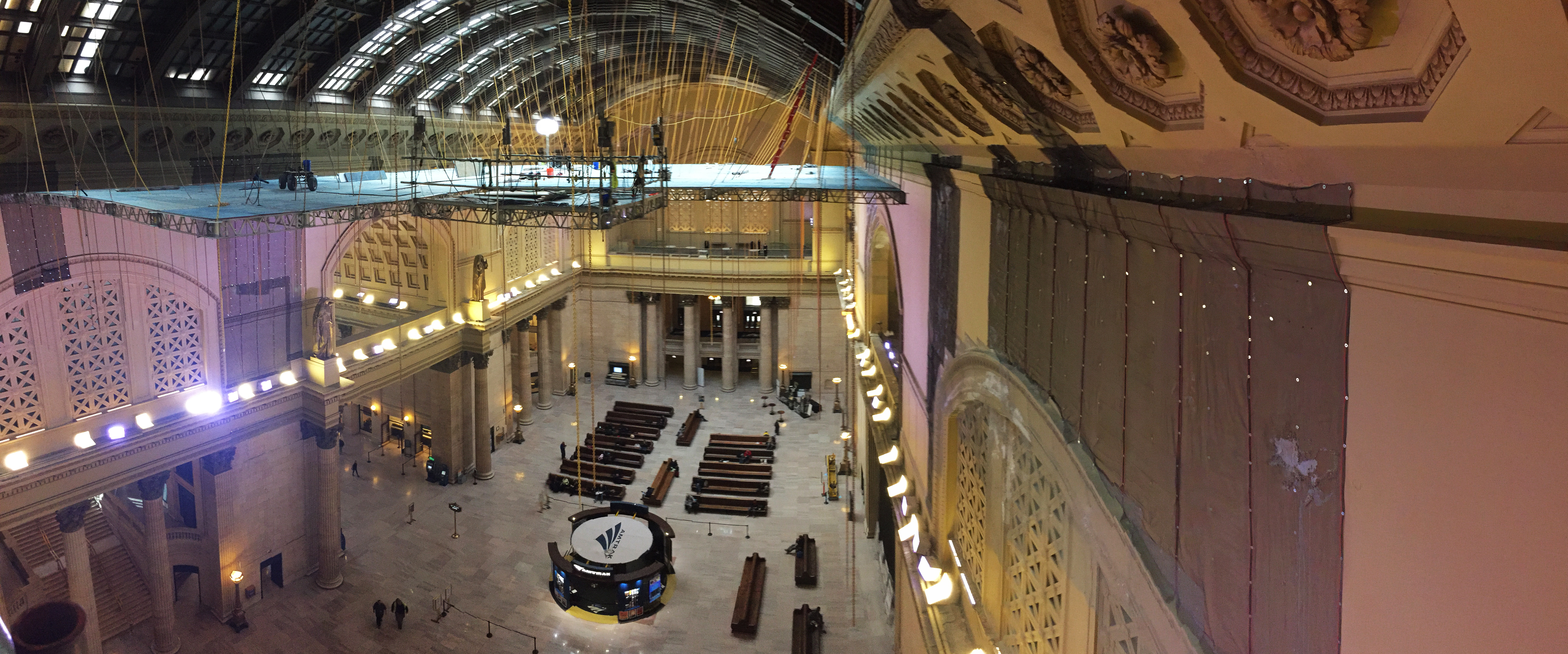 Union Station's historic Great Hall shows off restored skylight, plaster, and statues