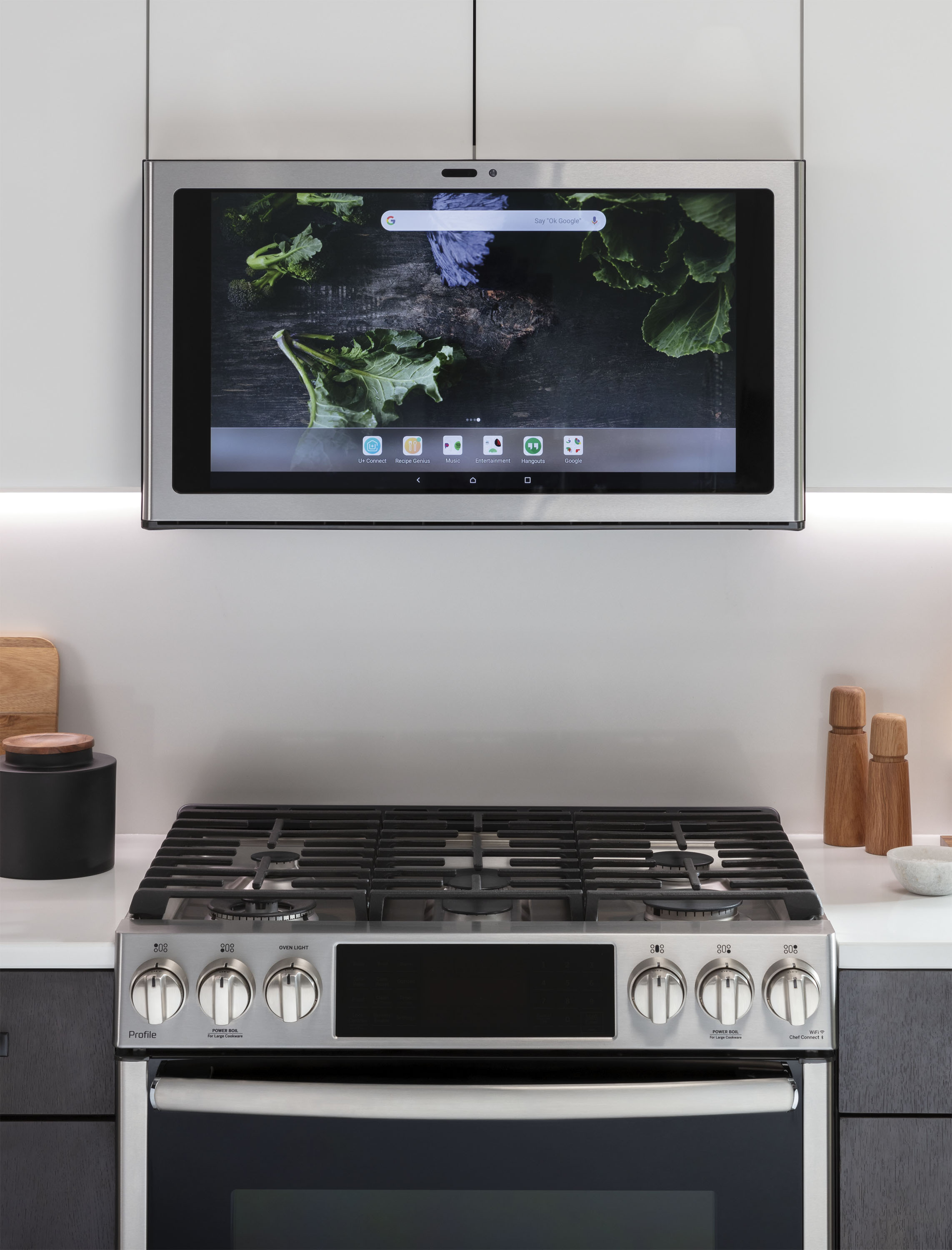 Ge Kitchen Hub A Smart Display For Above Your Stove That Streams Netflix And Spotify The Verge