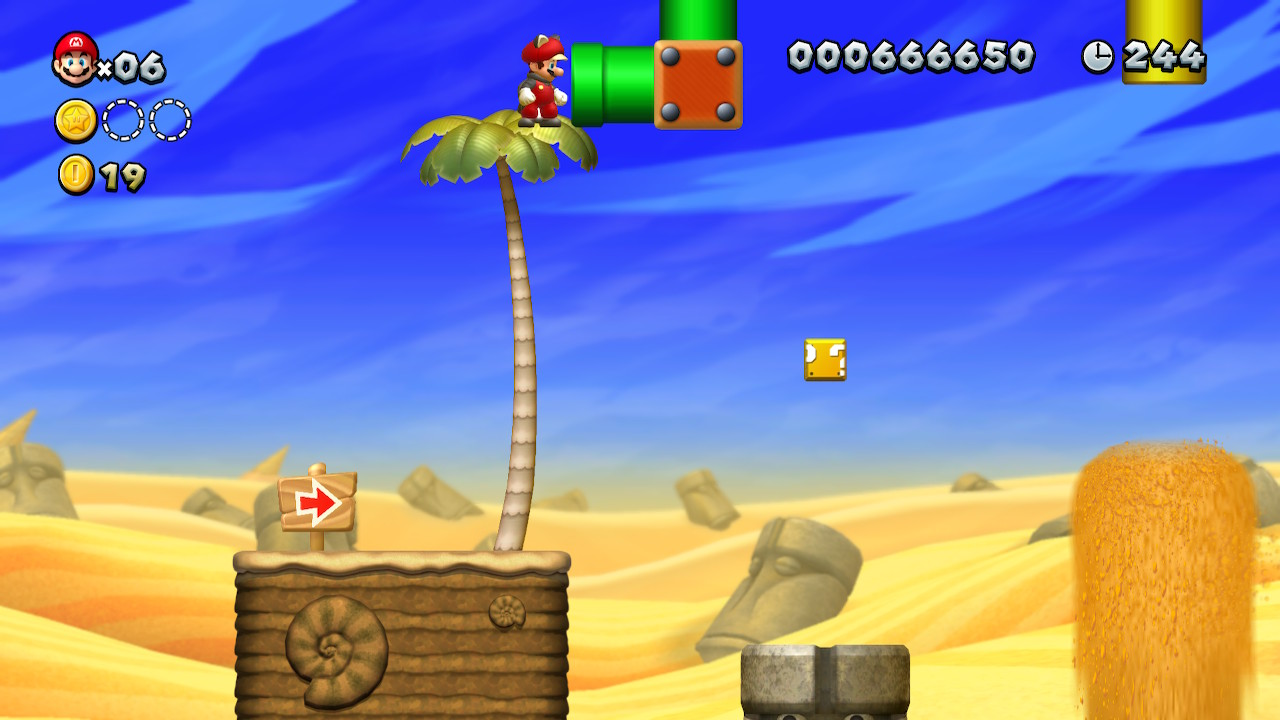 Layer-Cake Desert Star Coins locations: New Super Mario Bros  U