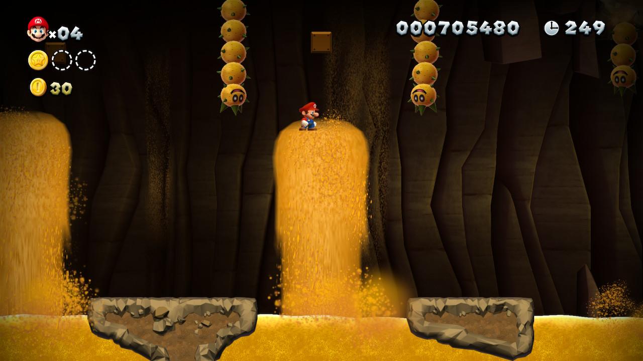 Layer-Cake Desert Star Coins locations: New Super Mario Bros