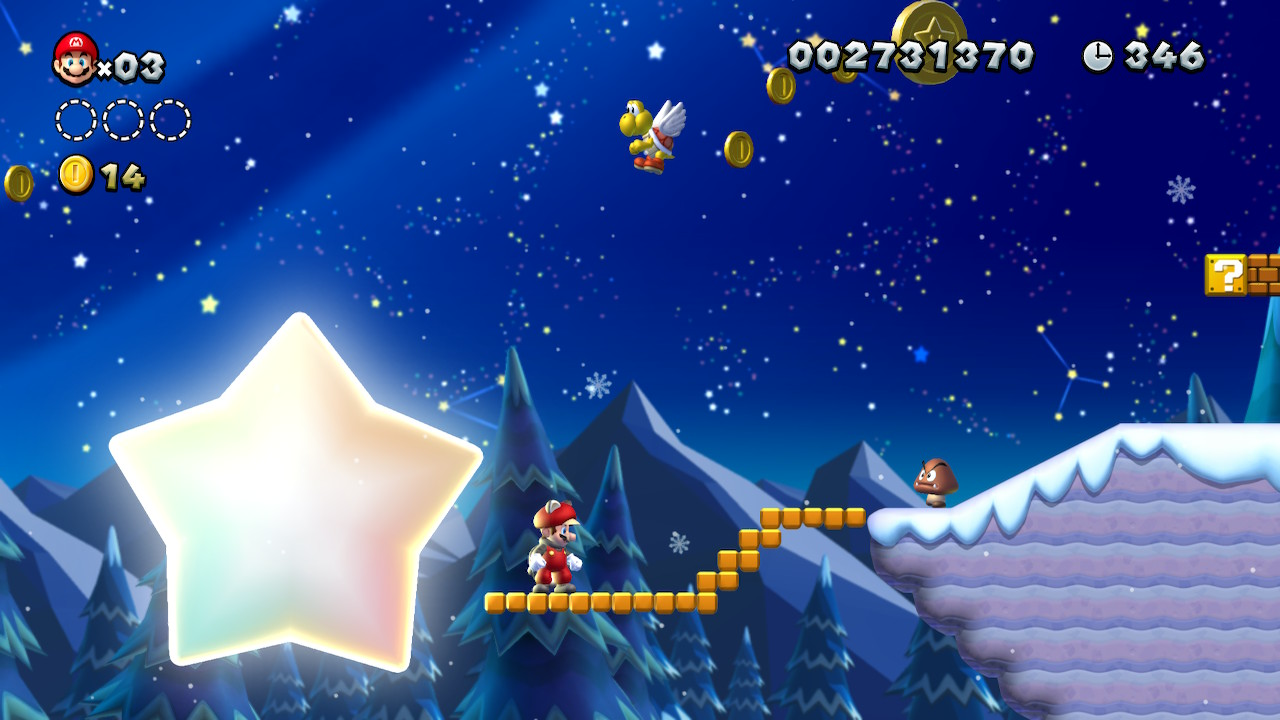 Frosted Glacier Star Coins locations: New Super Mario Bros  U Deluxe