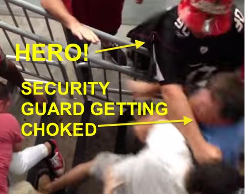 Darnell Dockett rewards fan who helped security guard in brawl