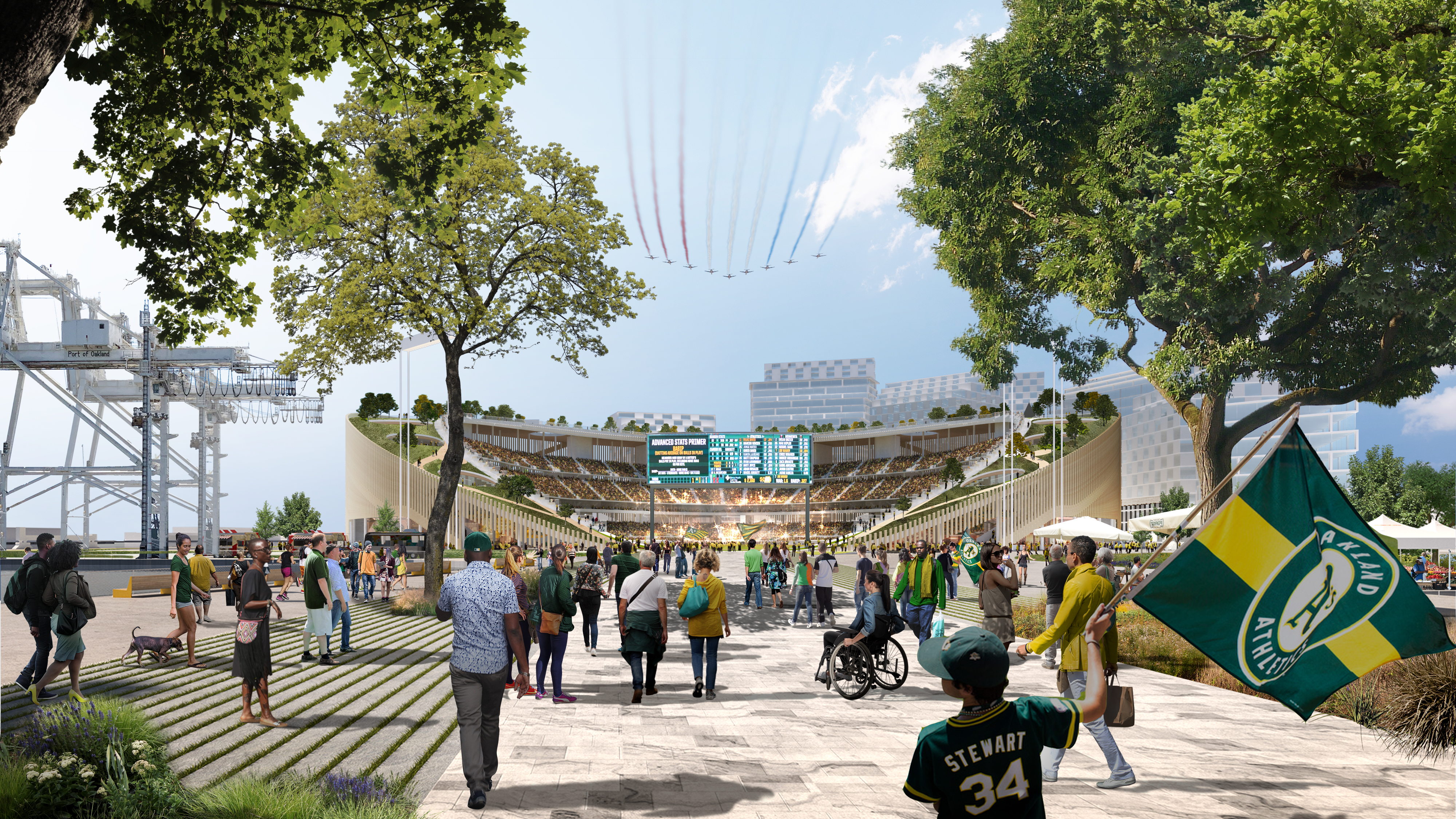 Oakland A's reveal new shape for waterfront stadium - Curbed SF