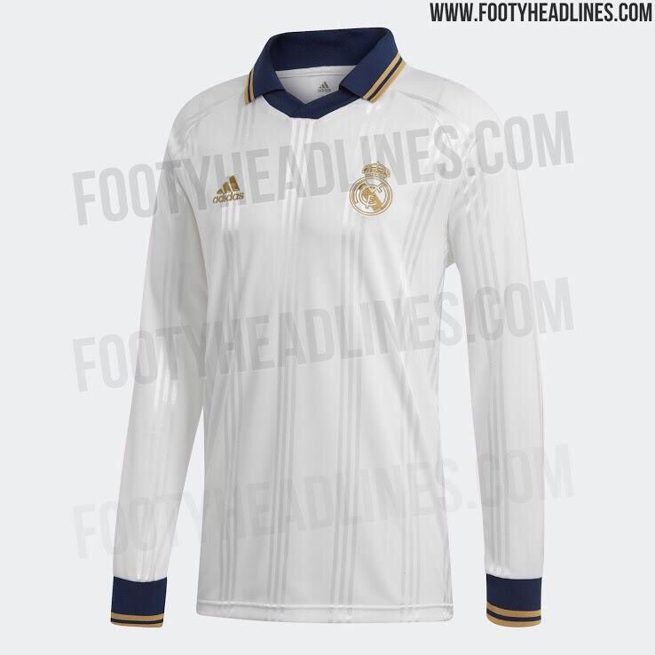 05819c889 Real Madrid 2019 20 Icon Retro Jersey Leaked - Managing Madrid