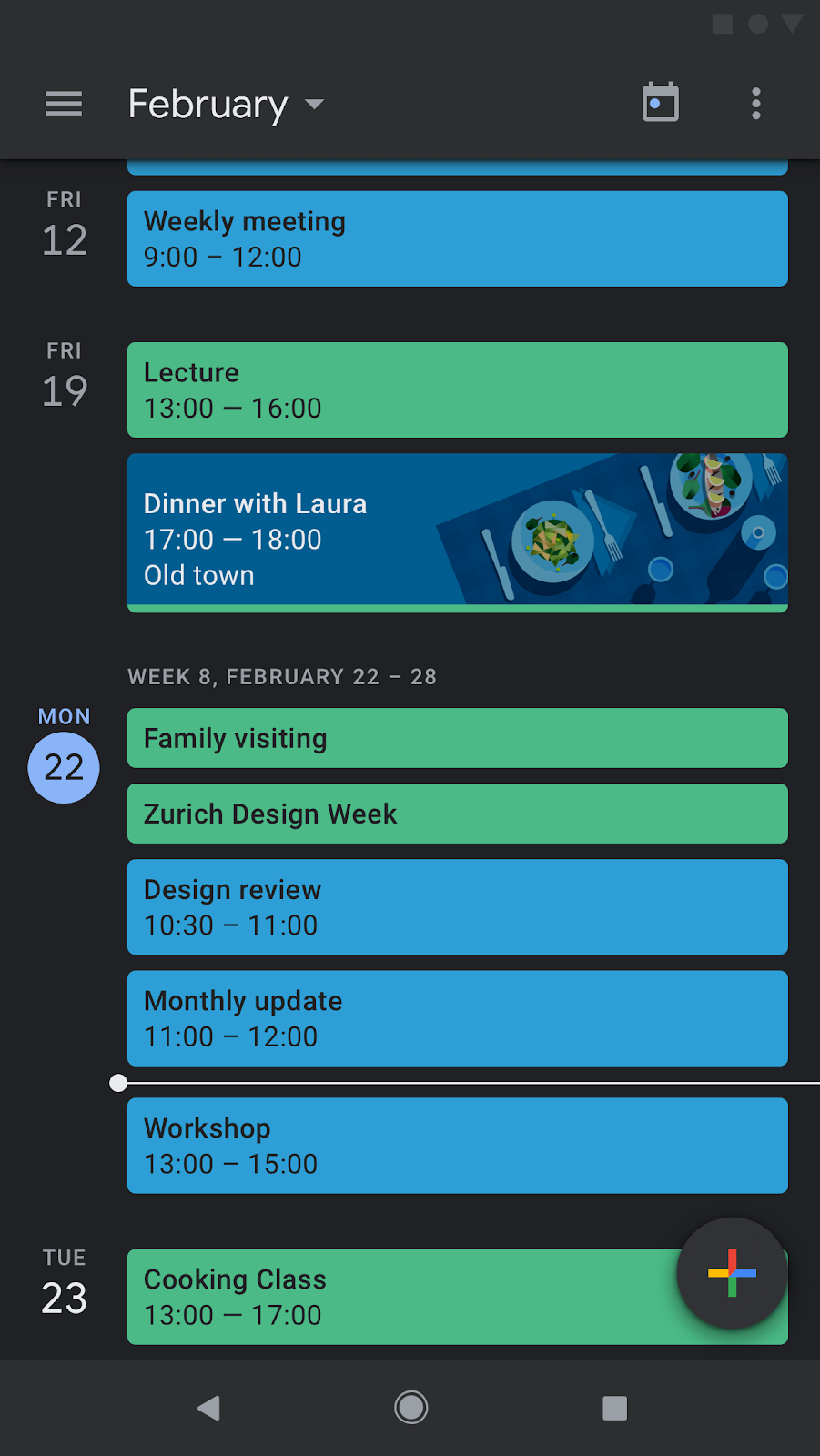 Dark modes are here for Google Calendar and Google Keep