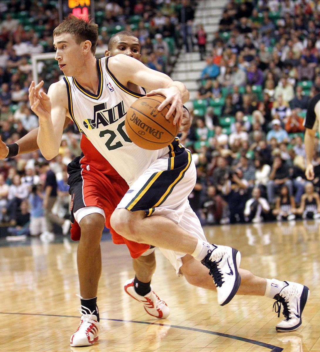 Utah Jazz rookie Gordon Hayward is working hard to prove he