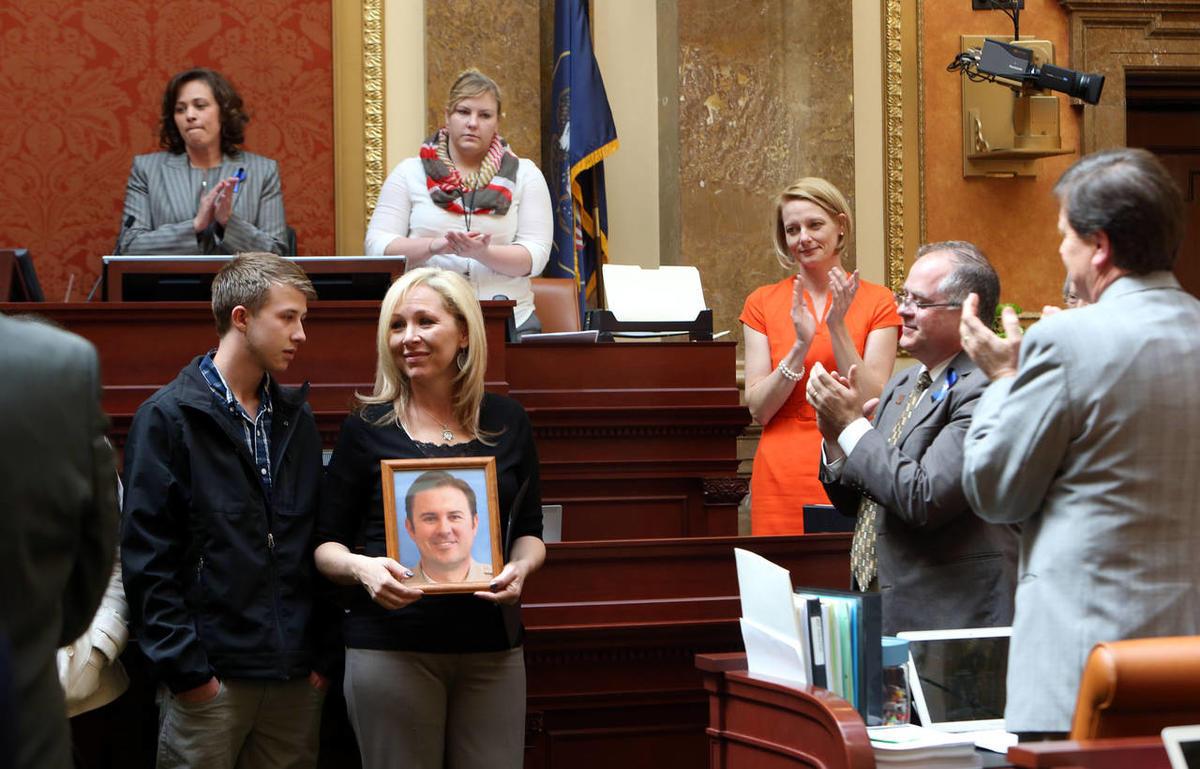 Family of slain Utah County Sheriff's Sgt  Cory Wride visits