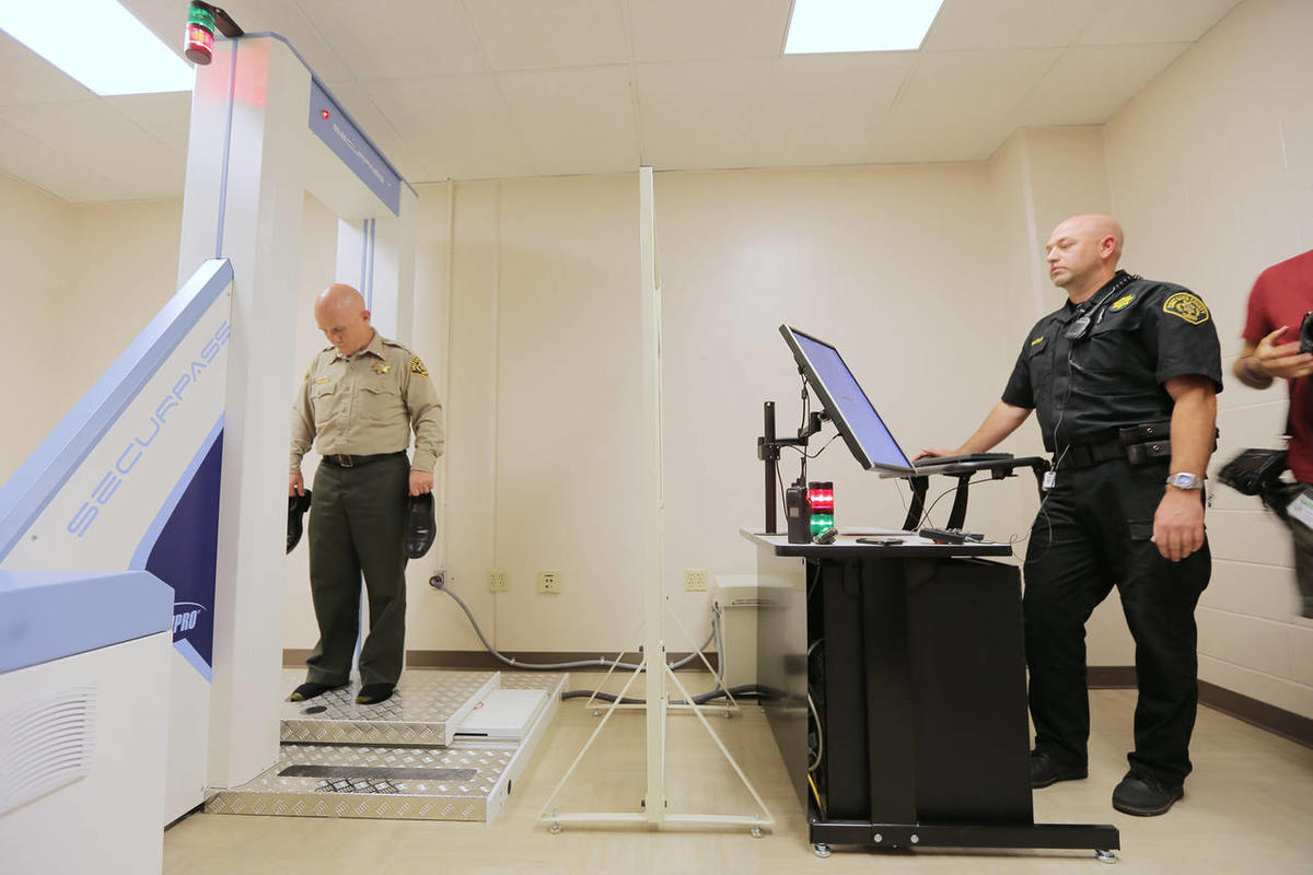 Jail officials hope new body scanners will cut back on
