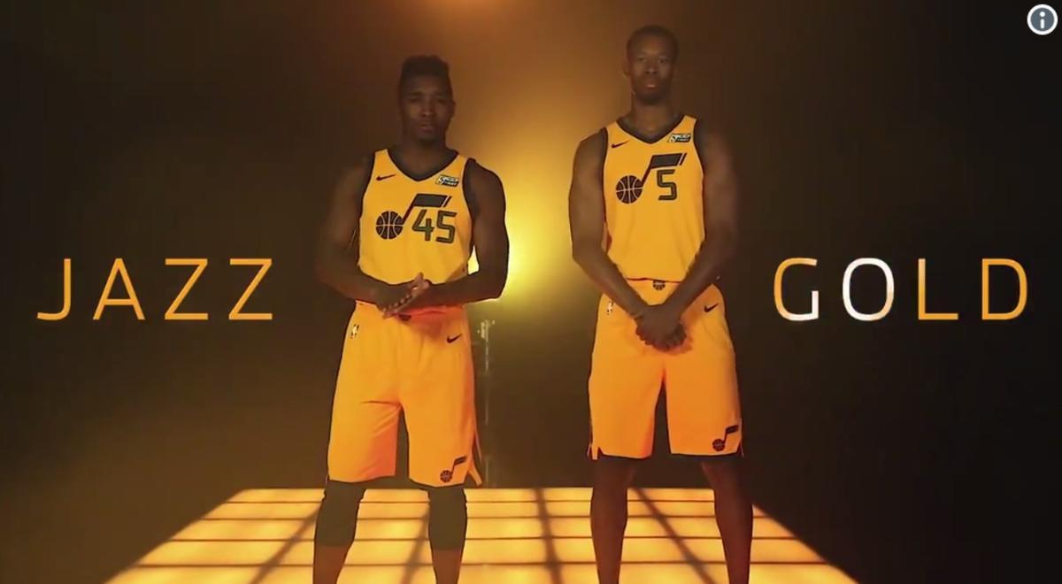 reputable site 2e113 eea9c Utah Jazz unveil new gold 'Statement' jersey - Deseret News