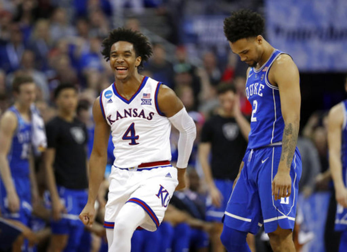 info for e9b17 c441b Kansas' Devonte' Graham takes advice from high school ...