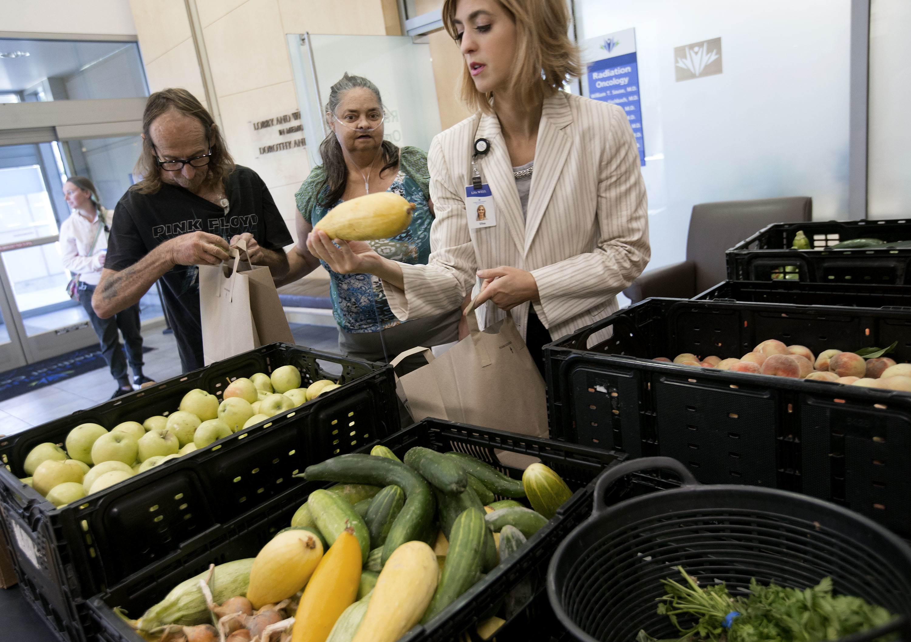Urban farm bounties benefit cancer patients at