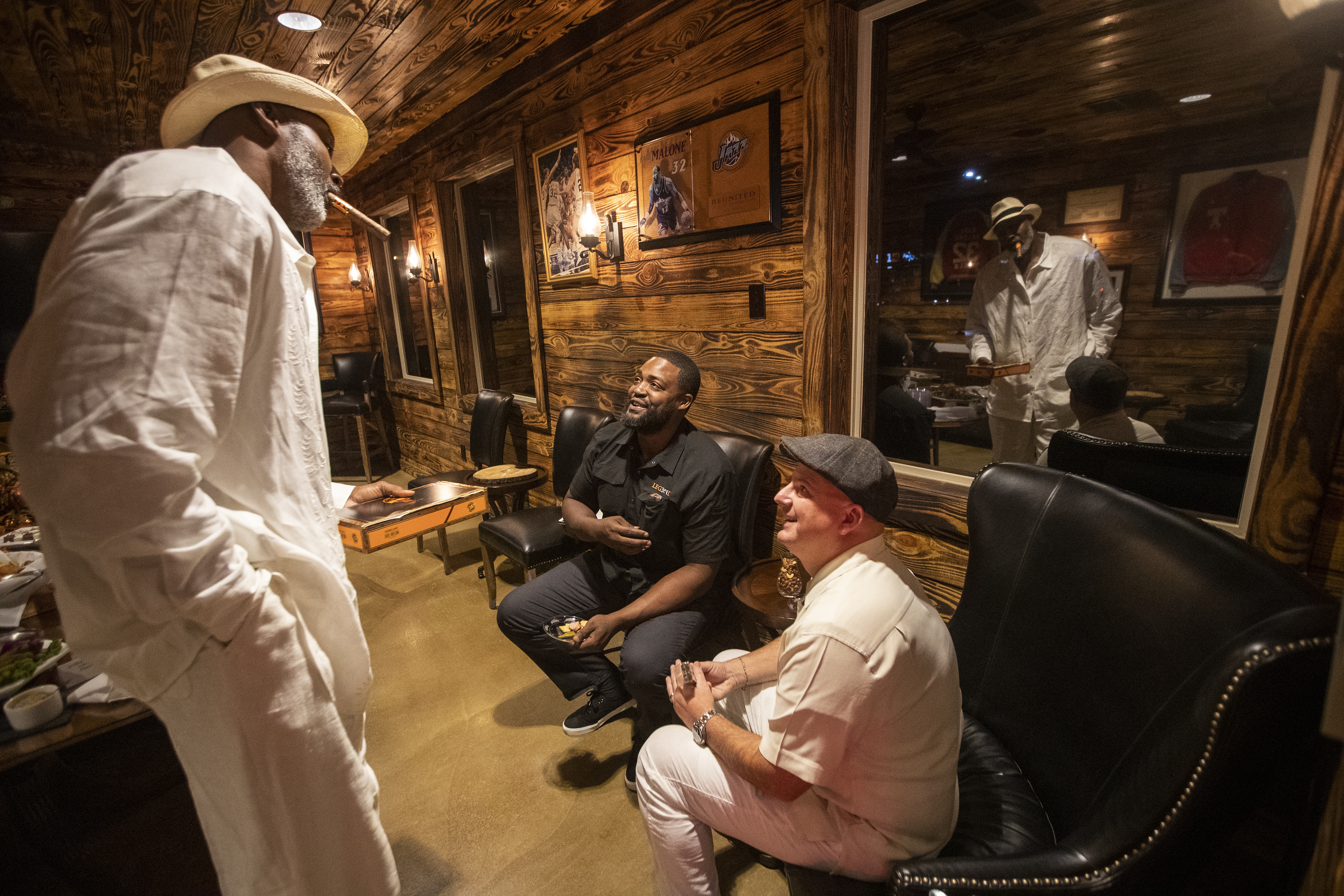 Family first: Utah Jazz legend Karl Malone is content with