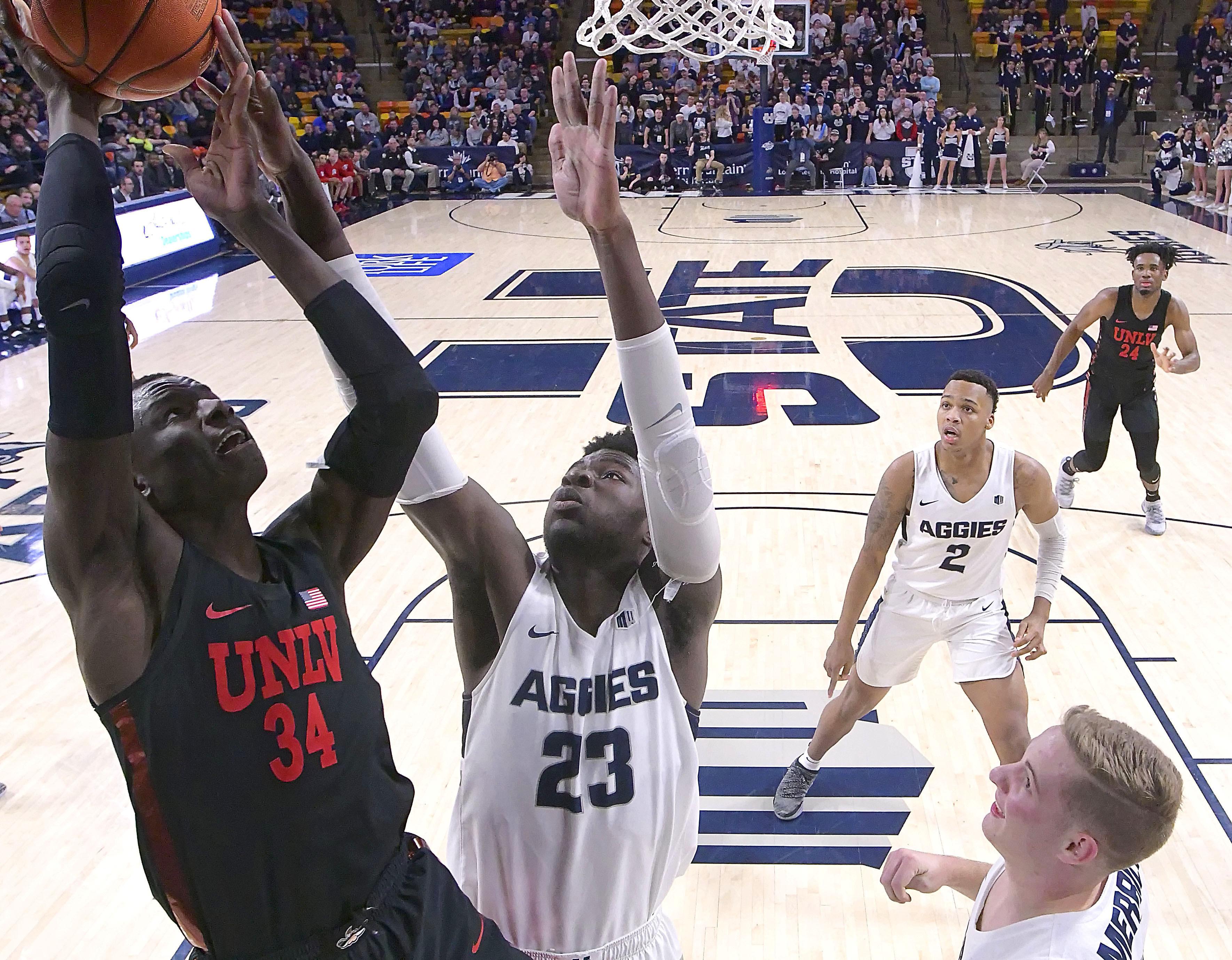 buy online 8b233 1323f USU men's basketball: Aggies batter UNLV Rebels for sixth ...