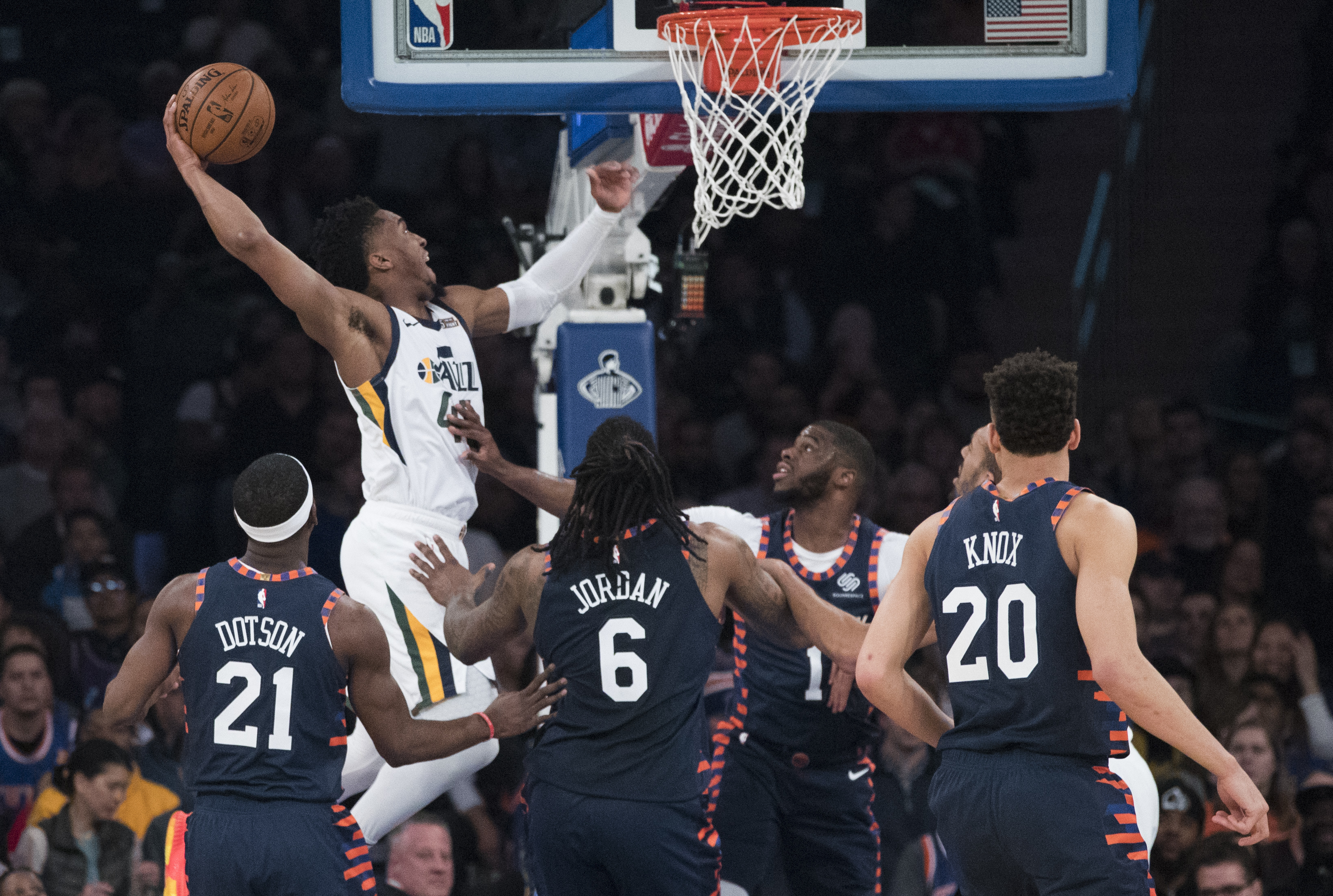Inspired Donovan Mitchell scores 30 against Knicks with