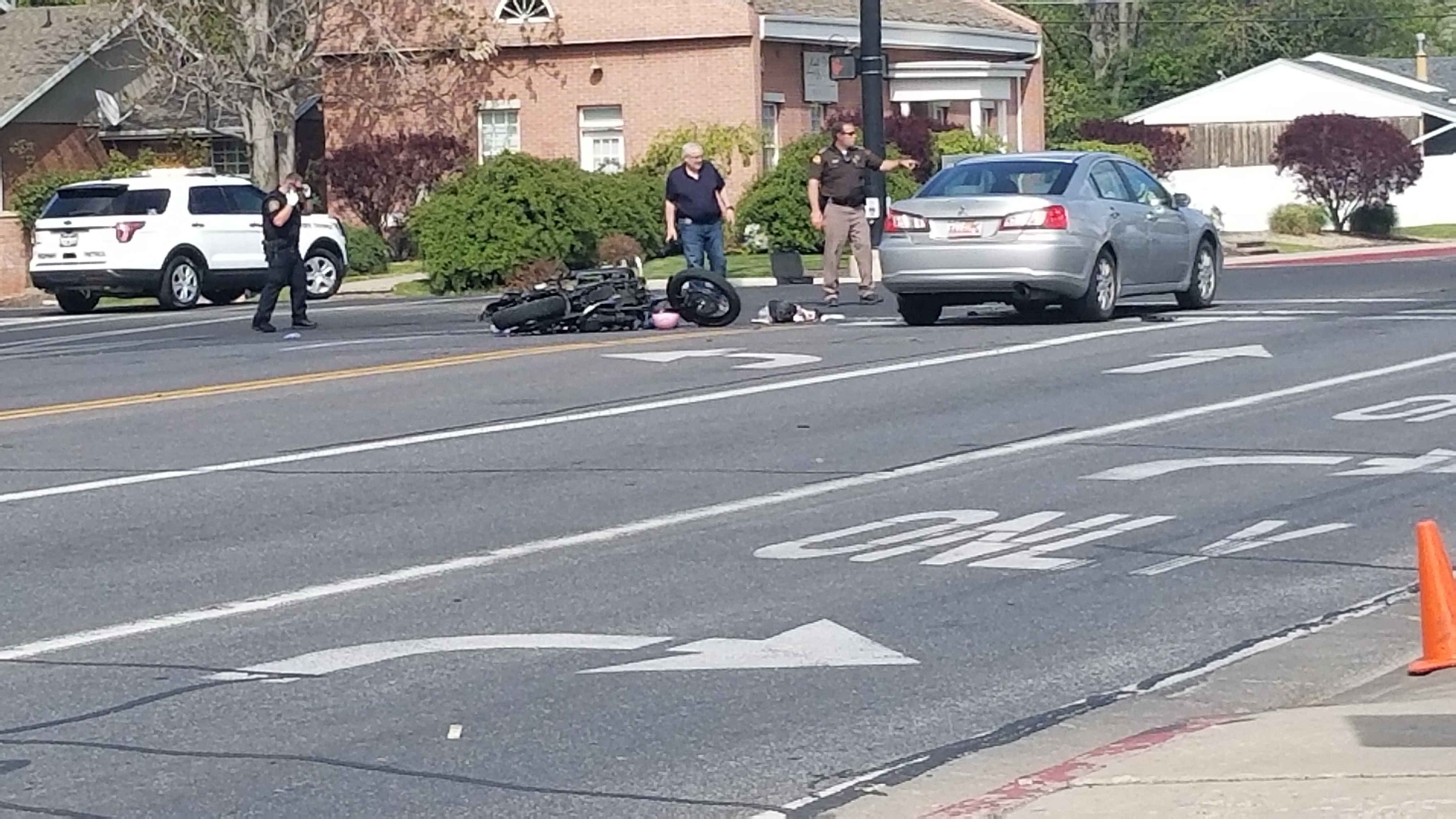 Dad, daughter on motorcycle sent to hospital after four