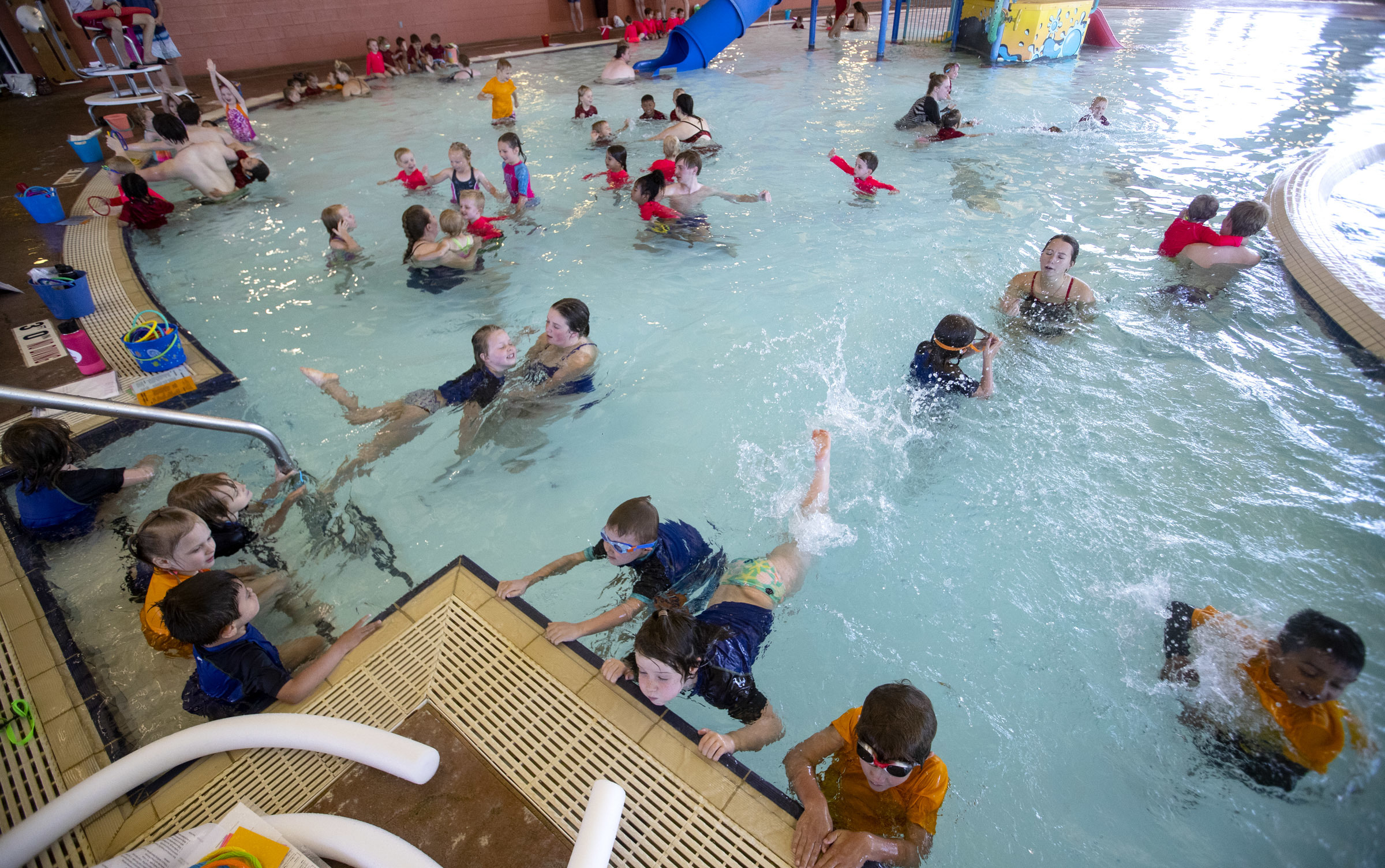 Photos: World's Largest Swimming Lesson aims to create a