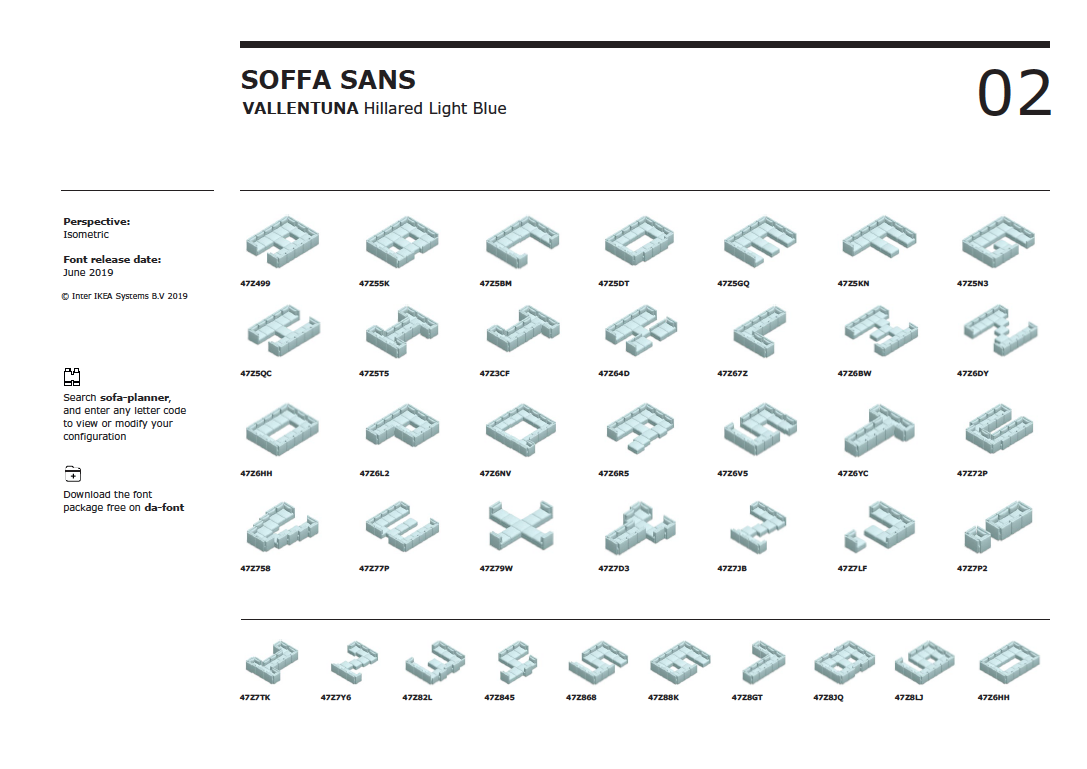 Ikea releases free 'Soffa Sans' font made of couches - The Verge