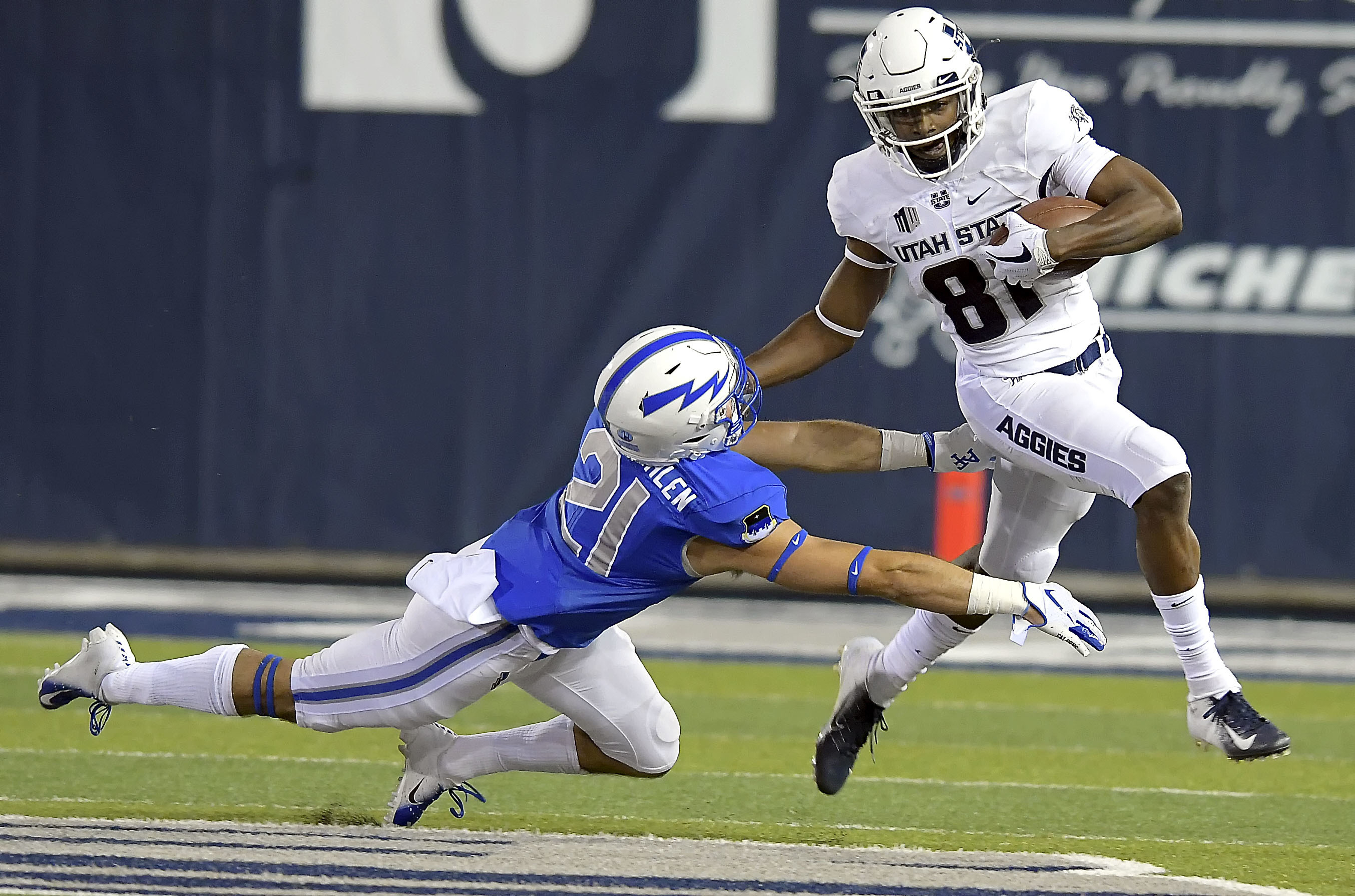How Savon Scarver became scary good for the Aggies - Deseret