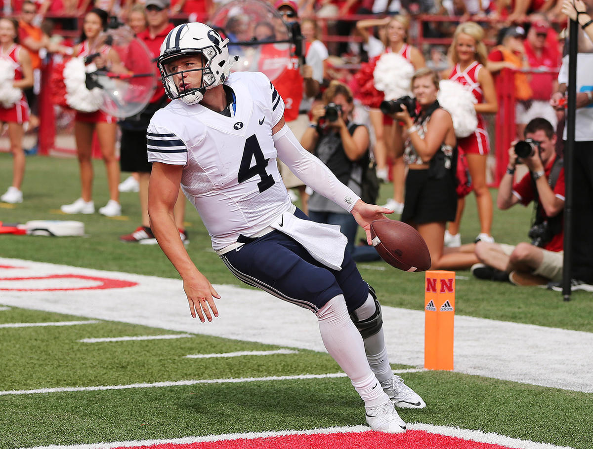 BYU quarterback Taysom Hill out for season after breaking