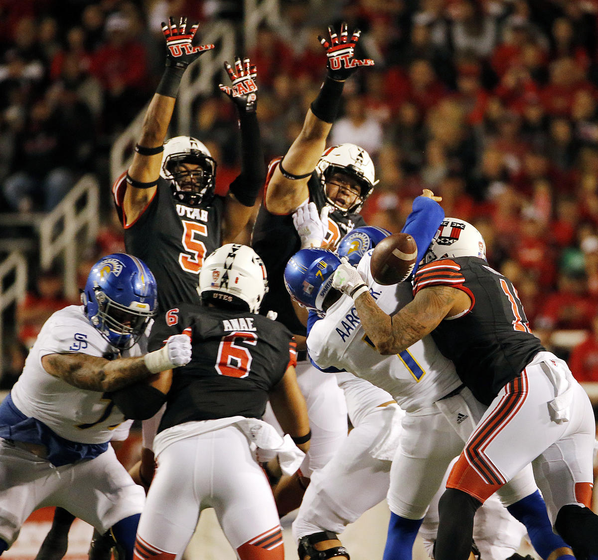 Utah slams San Jose State 54-16 to cap non-conference play