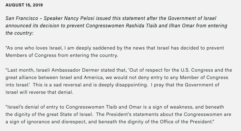 """A shameful, unprecedented move"": Democrats react to Israel blocking Omar and Tlaib's trip"