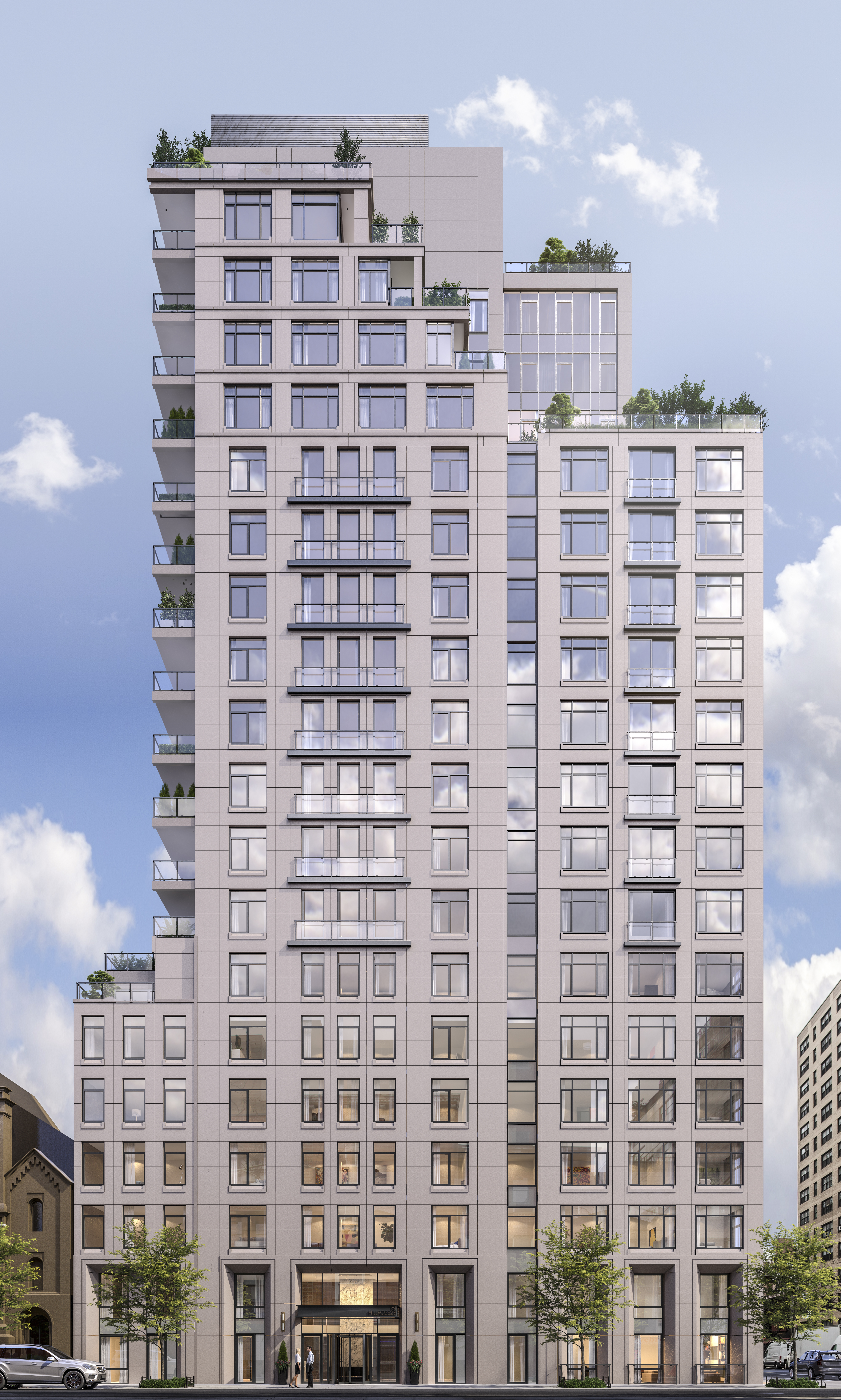 A 20-story tower with Andres Escobar-designed interiors tops out in Kips Bay