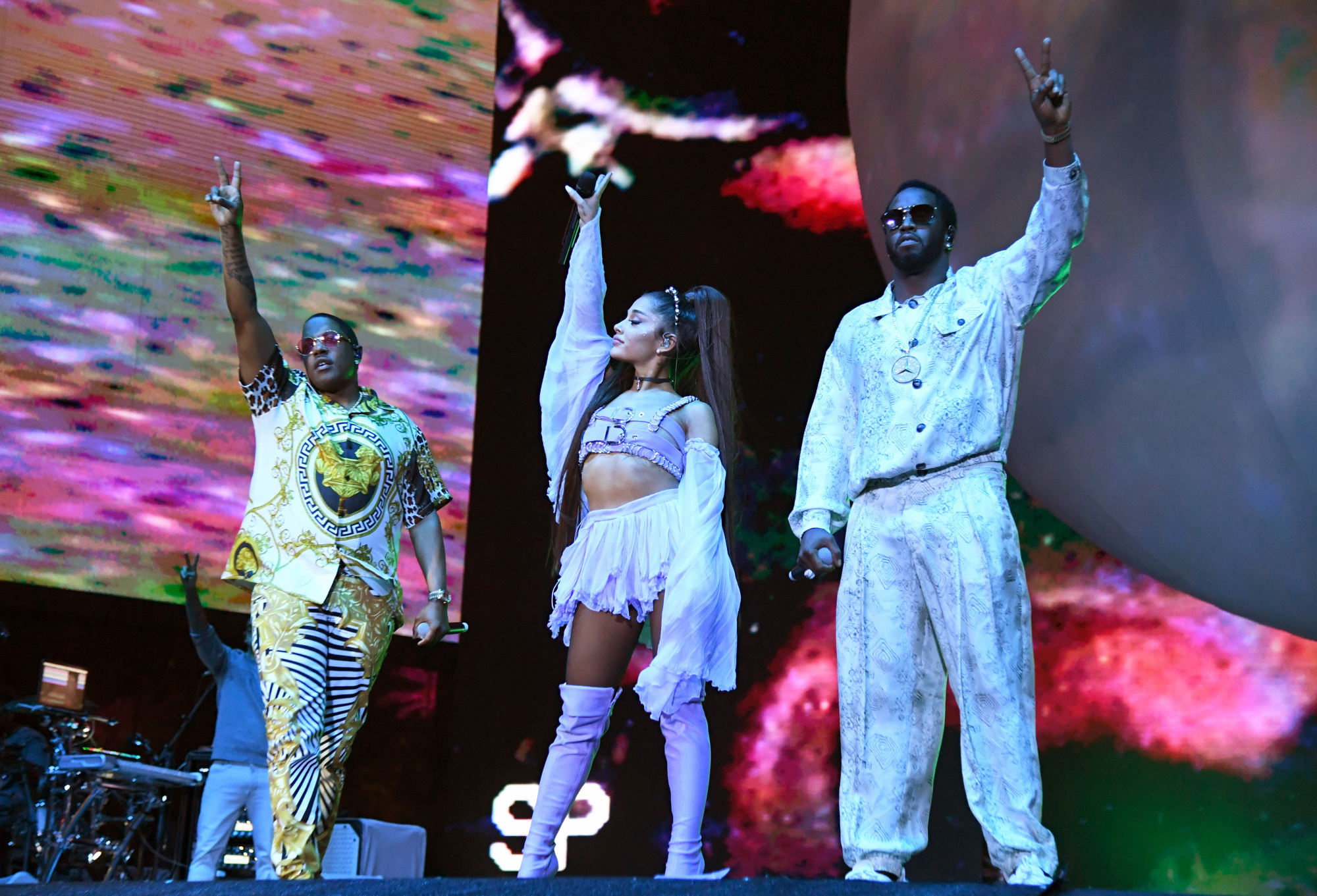 Ariana Grande, Diddy and Mase