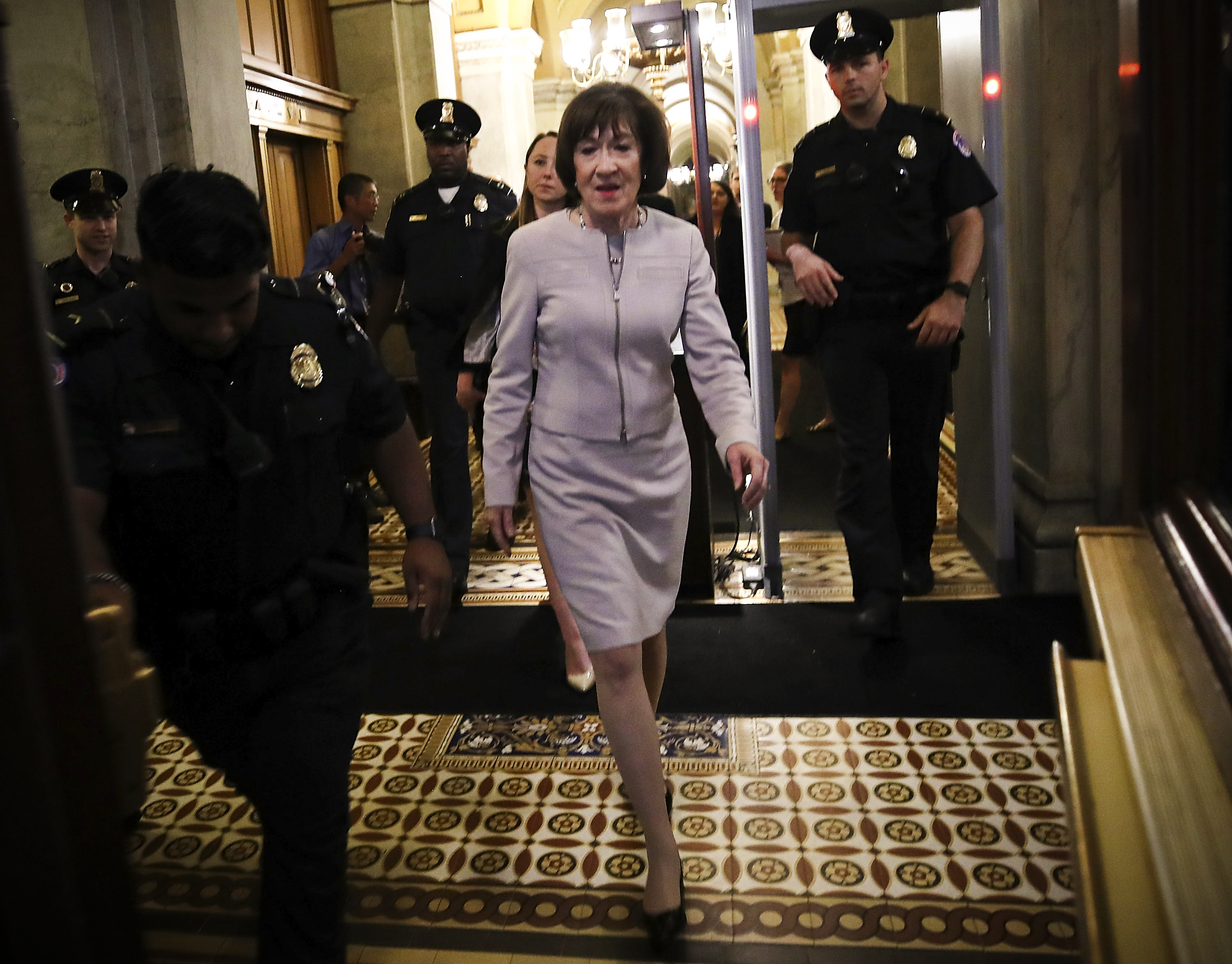 Susan Collins is in the political fight of her life, and Brett Kavanaugh is a huge factor