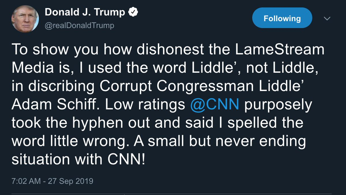 """""""Liddle', not Liddle"""": Trump's latest tweets are among his most bizarre yet"""