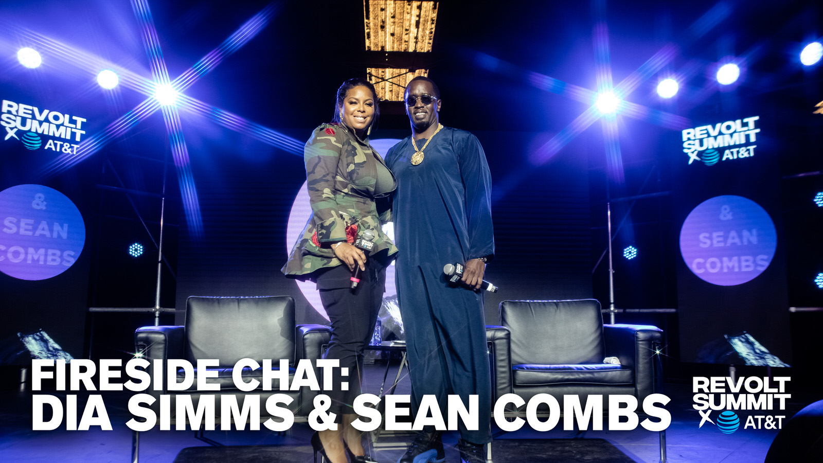 Dia Simms and Sean Combs