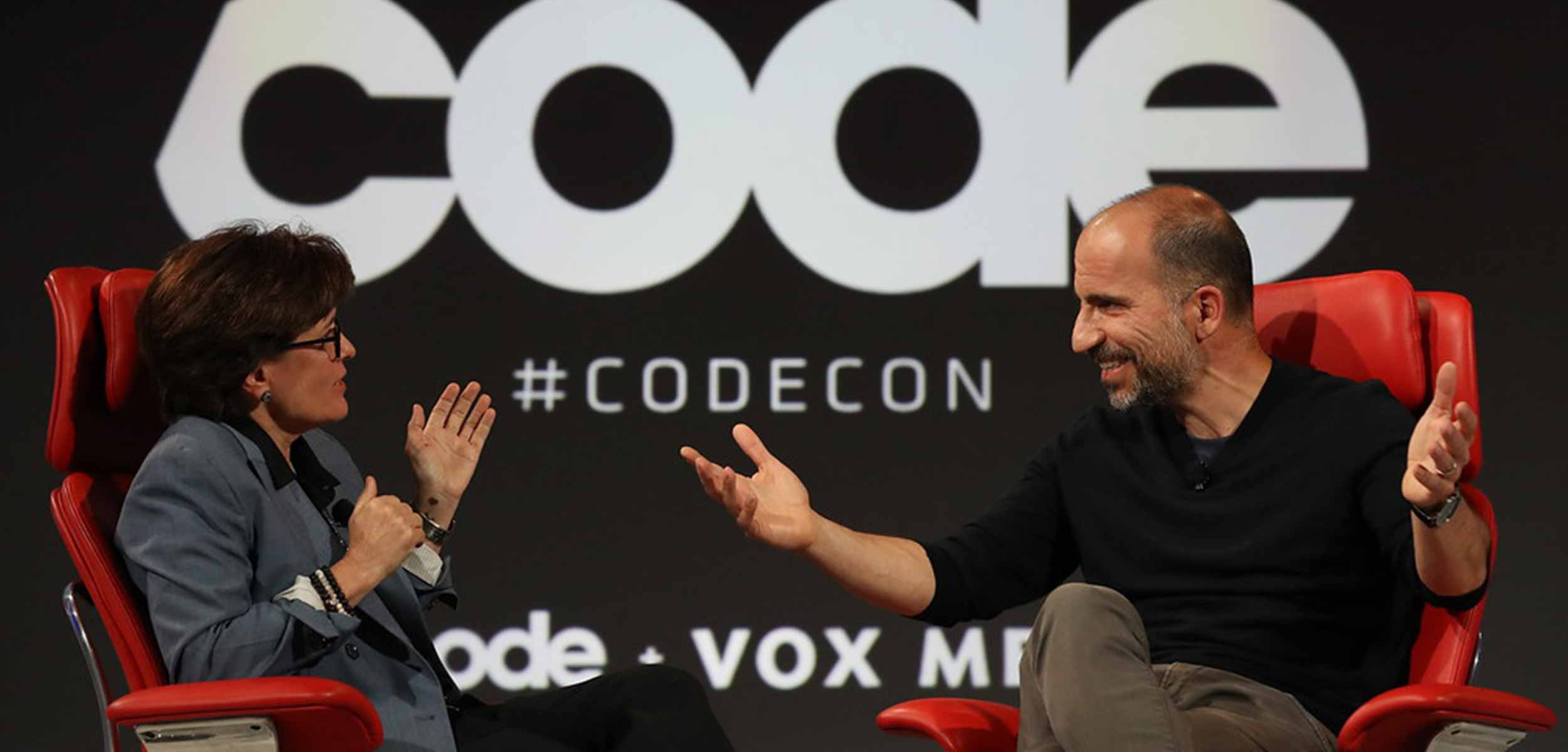 Kara Swisher and Scott Galloway on stage at Code Conference