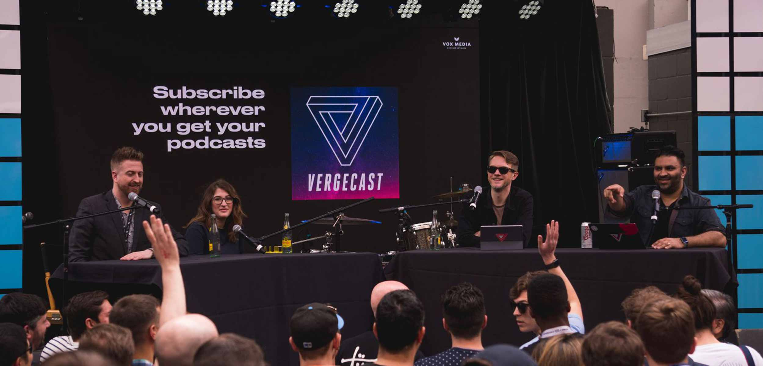 Nilay Patel, Dieter Bohn, Casey Newton, and Ashley Carman hosted their popular podcast, Vergecast, live at SXSW.