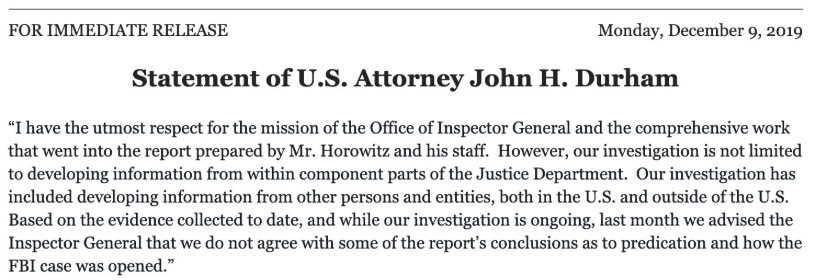 Bill Barr's Justice Department swings into action to undercut the inspector general report