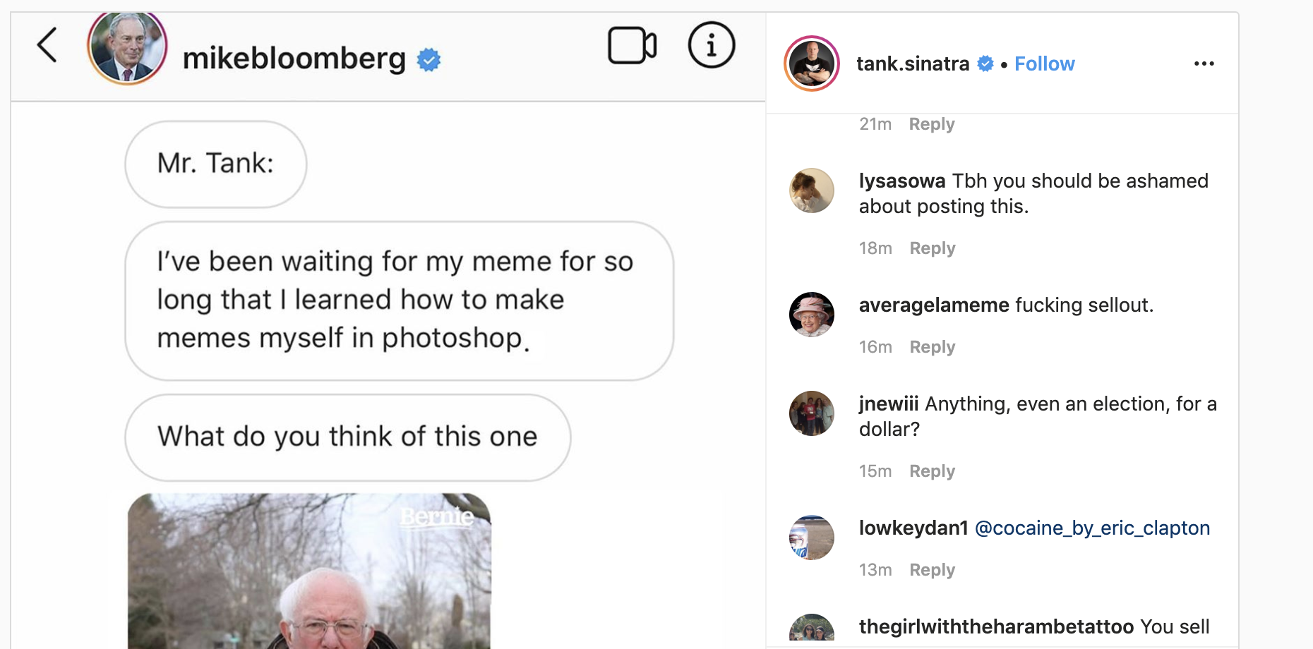 Bloomberg's Instagram meme ad campaign is backfiring