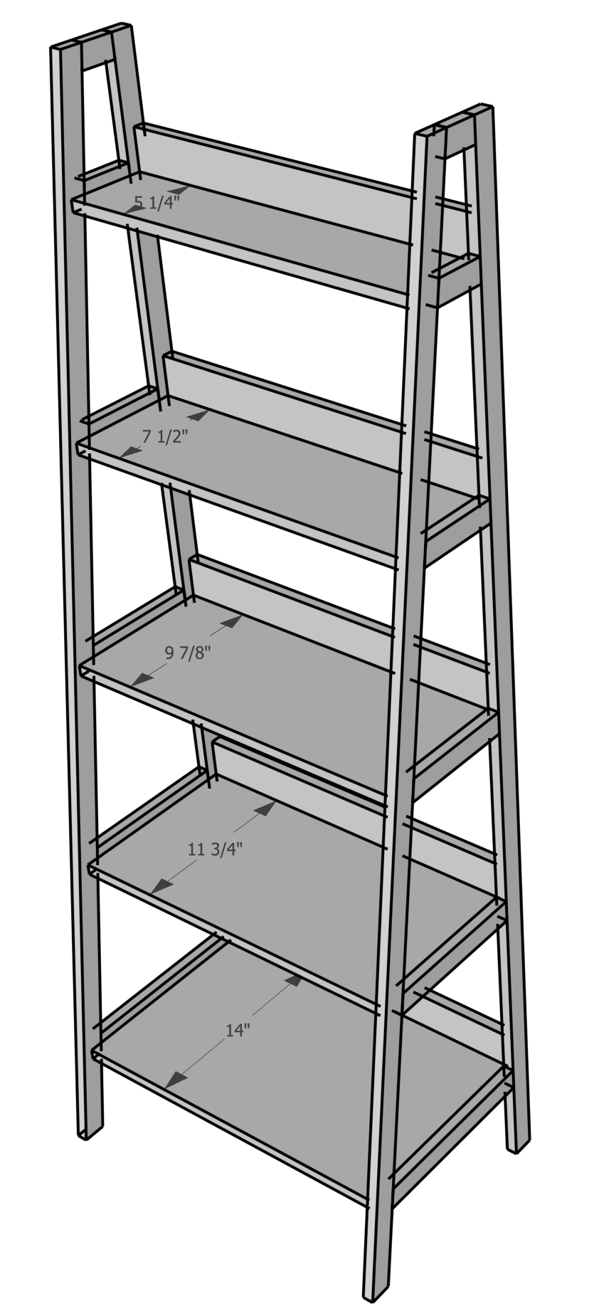How To Build A Leaning Ladder Shelf
