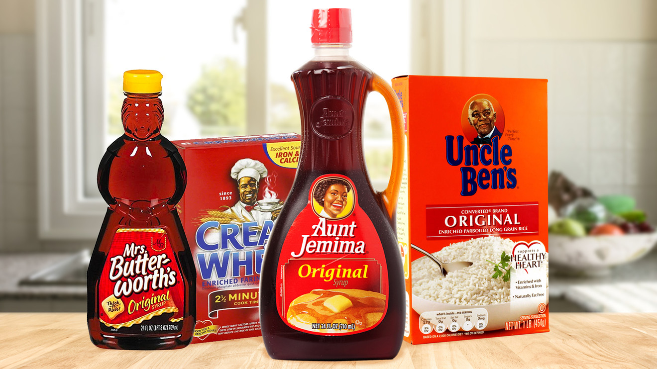 Aunt Jemima, Uncle Ben, Mrs. Butterworth and Cream of Wheat