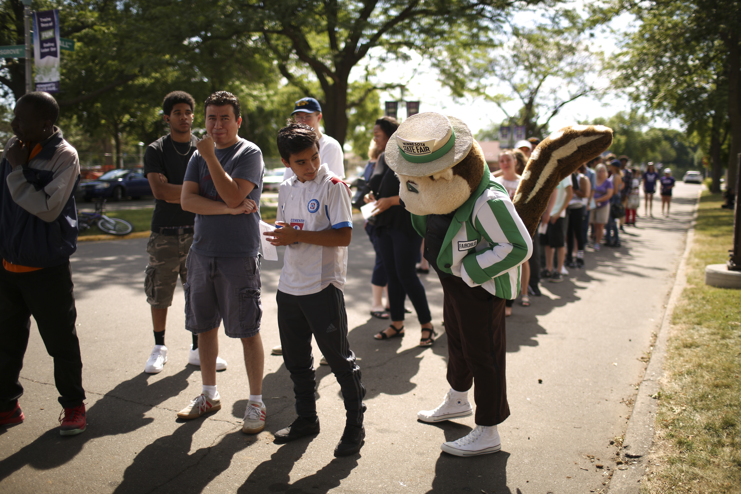The tail of State Fair mascot Fairchild is striped, a telltale sign that what you're seeing is not a gopher.
